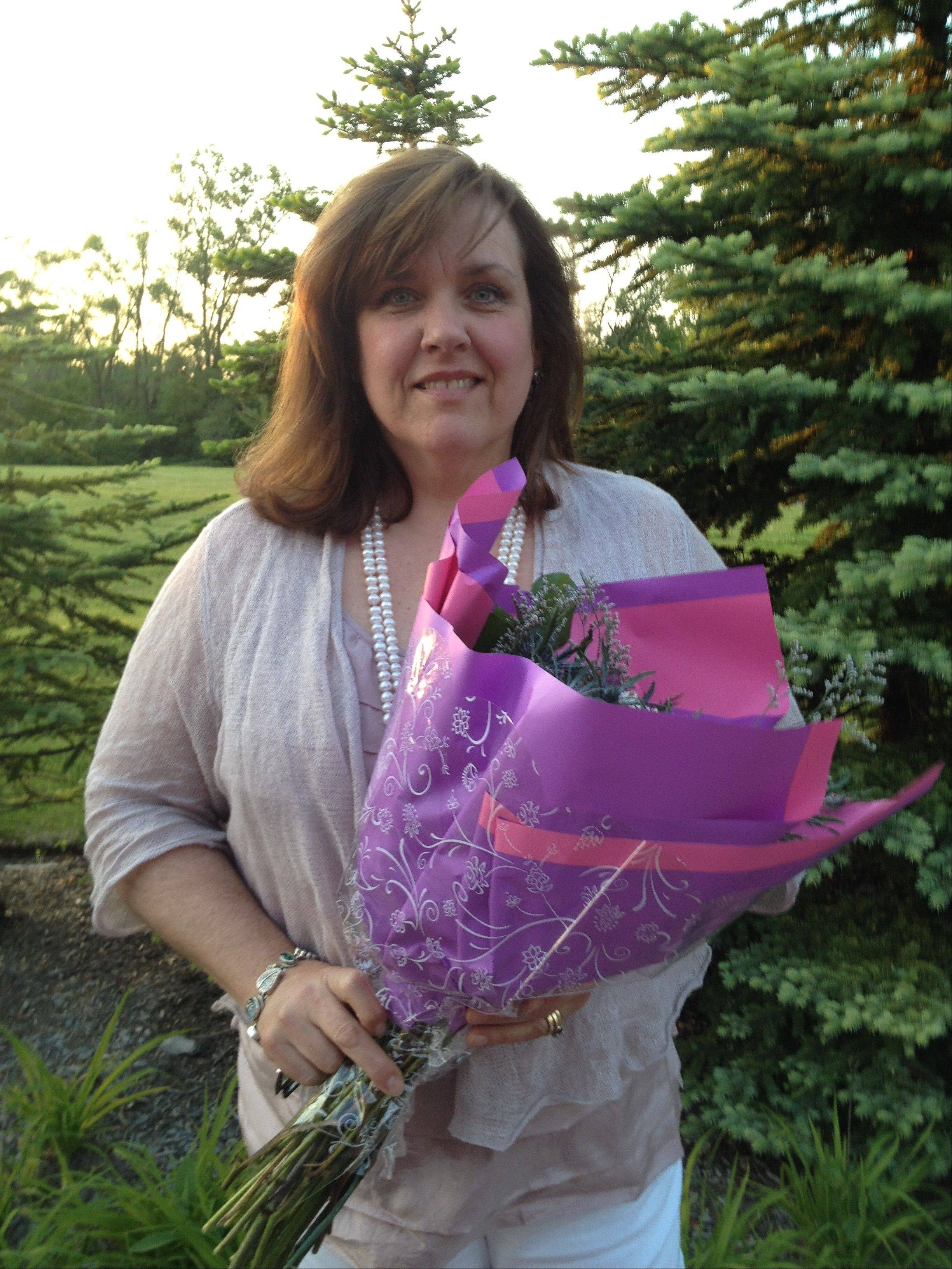 Susan Hurley received Fremont School District 79's Excellence in Volunteering Award.