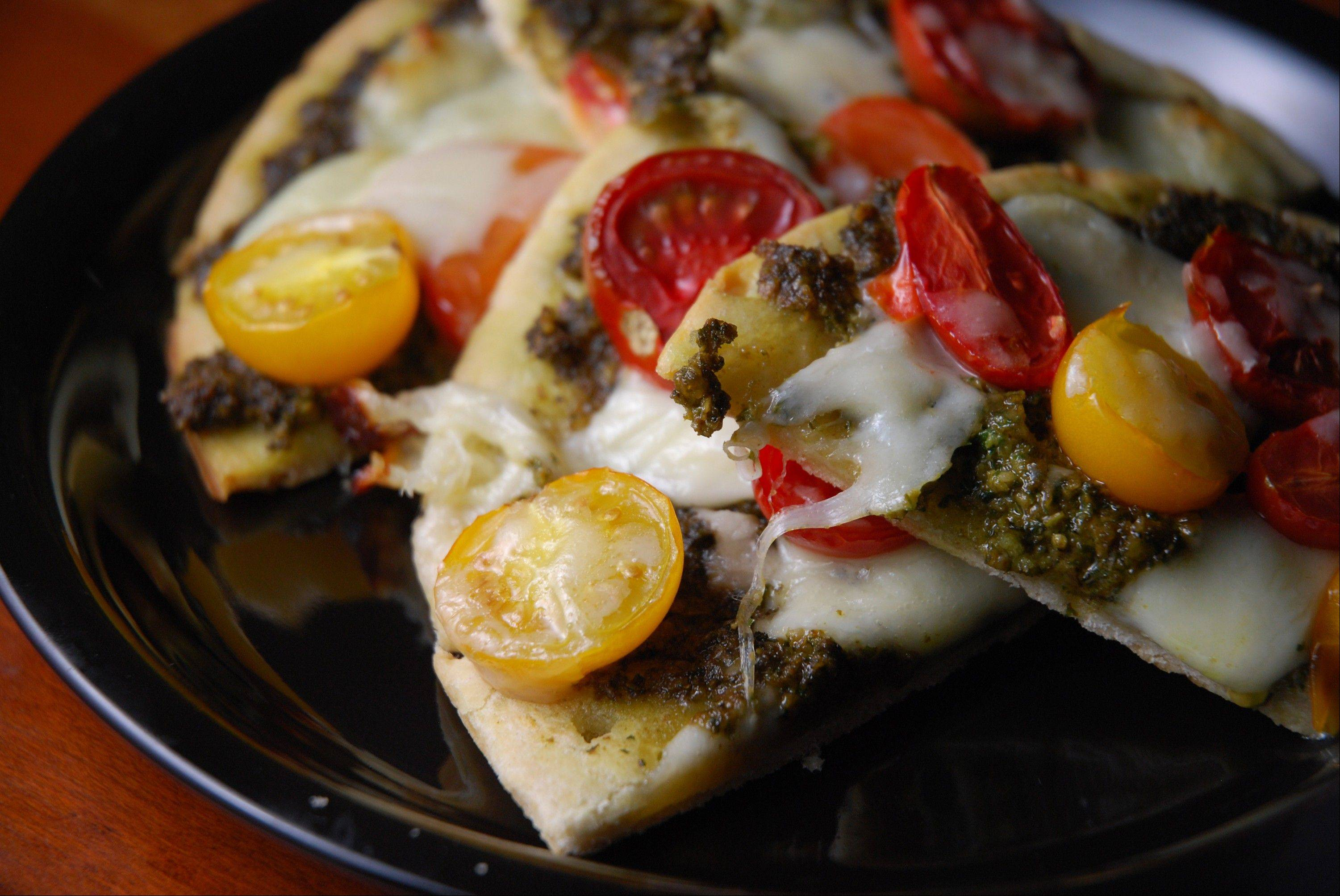 Pesto turns pizza into summery treat