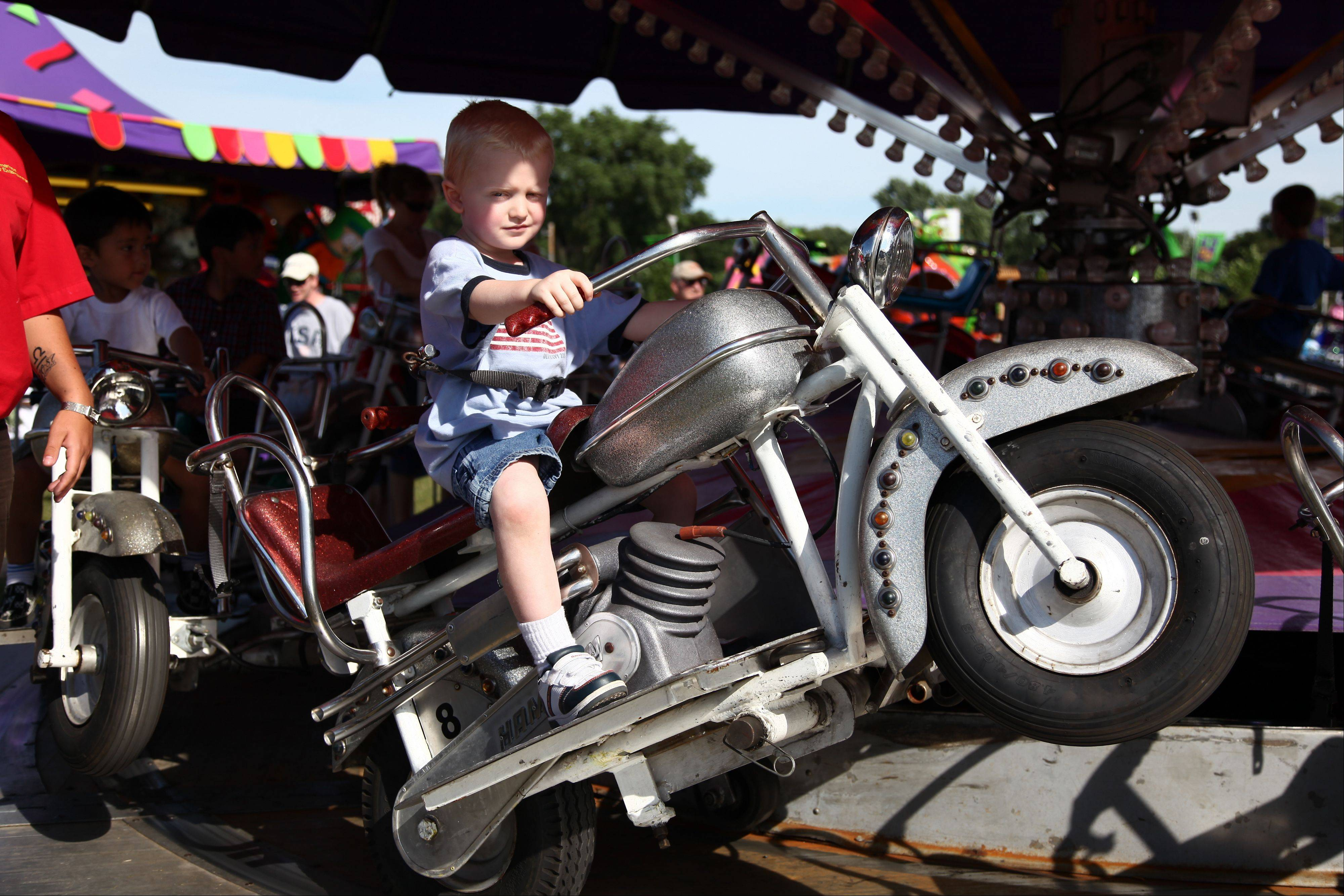 Take a spin on some carnival rides at West Chicago's annual Railroad Days at Reed Keppler Park.
