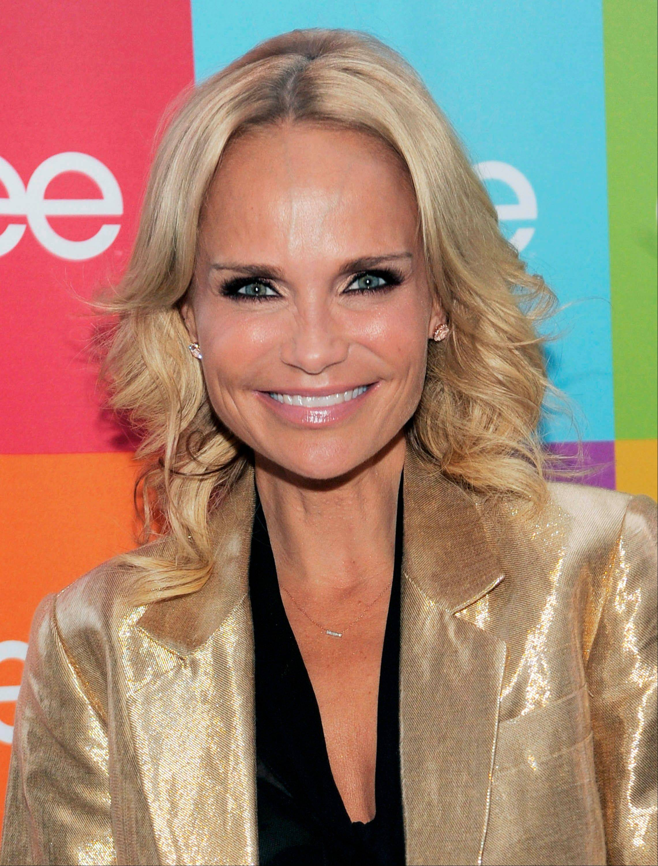 "Actress and singer Kristin Chenoweth was taken to the hospital after suffering an injury on the set of the CBS drama ""The Good Wife"" in New York City."