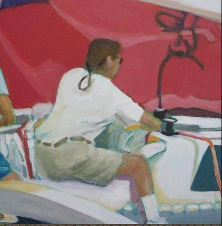 "This Maggie Schwarz Kraus painting, ""Sailor,"" depicts the artist's son. Kraus' show is presented by the Lake County Art League and runs through Aug. 9, with a reception from 5-8 p.m. Thursday, July 19."