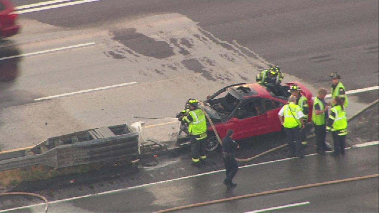 Photo courtesy of ABC-7Aerial view of the fatal crash on Rt. 53 Thursday morning in Schaumburg.