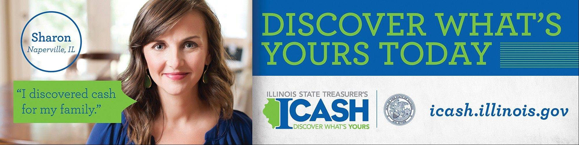 This billboard featuring Sharon Maguire of Naperville should start showing up in the suburbs soon. Maguire and her husband, Mike, went to icash.illinois.gov and got about $200 they didn't know existed.