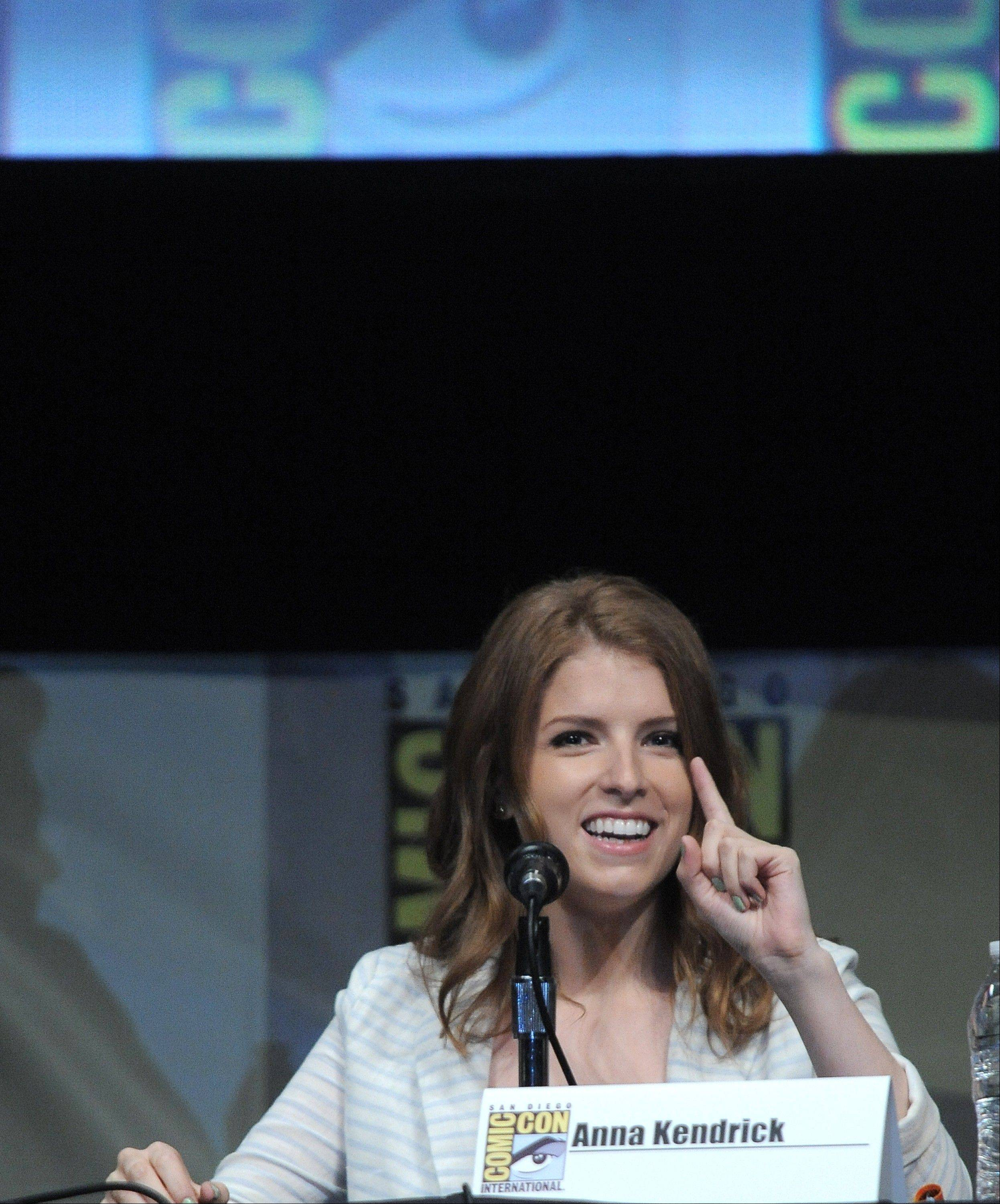 "Anna Kendrick attends the ""ParaNorman"" panel Thursday at Comic-Con."