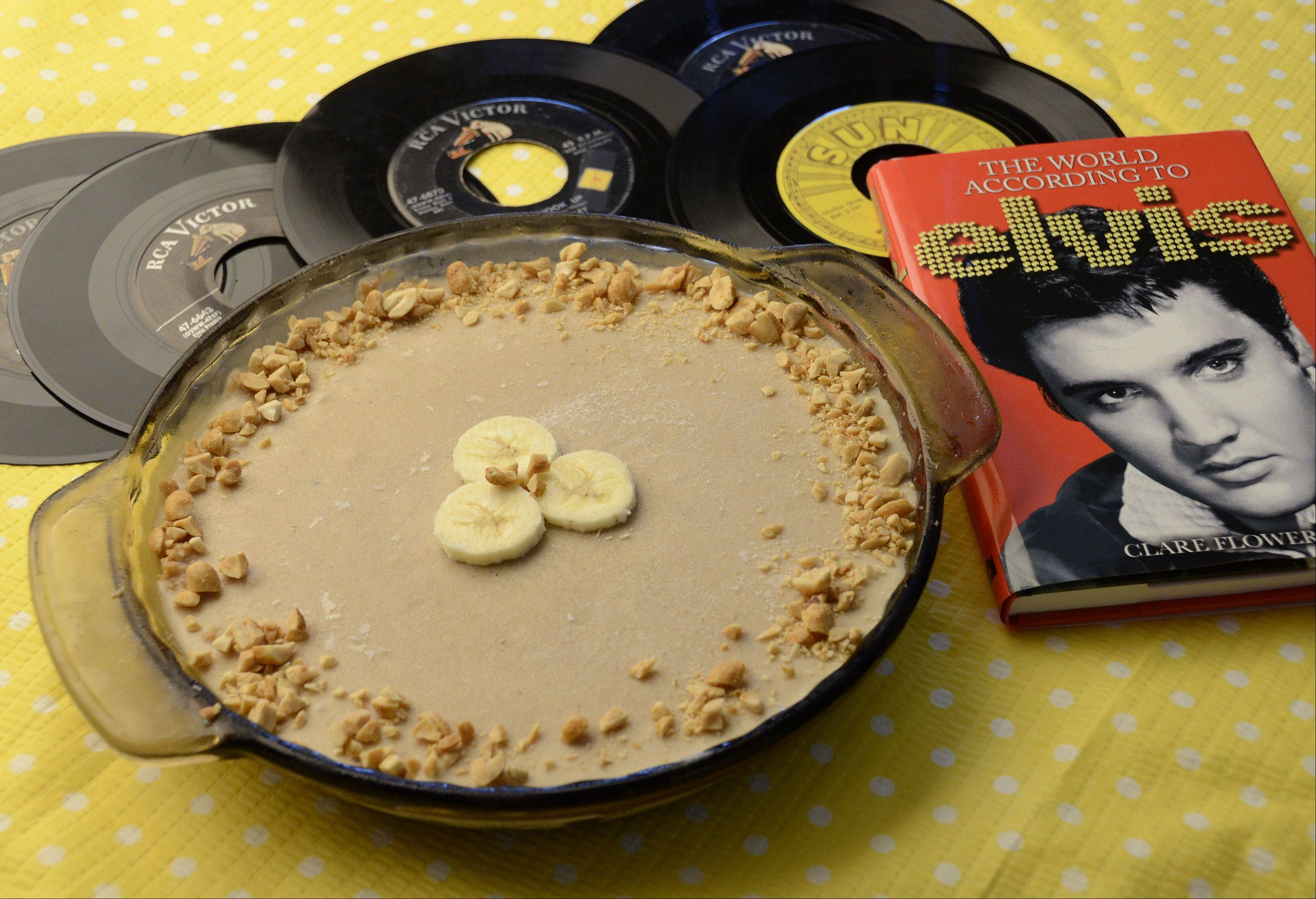 Ice cream pie with peanut butter and bananas pays tribute to Elvis Presley, who died 35 years ago next month.