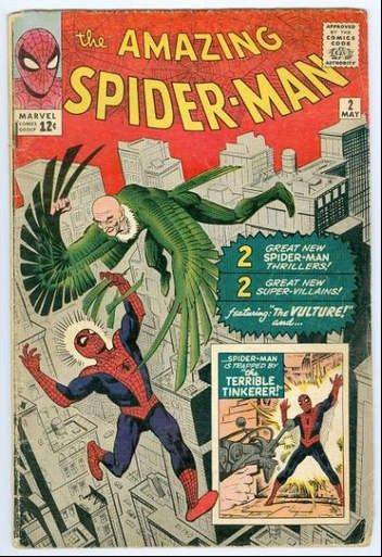 "A good copy of ""The Amazing Spider-Man"" No. 2 from 1963 would fetch considerably more than the 12-cent cover price today."