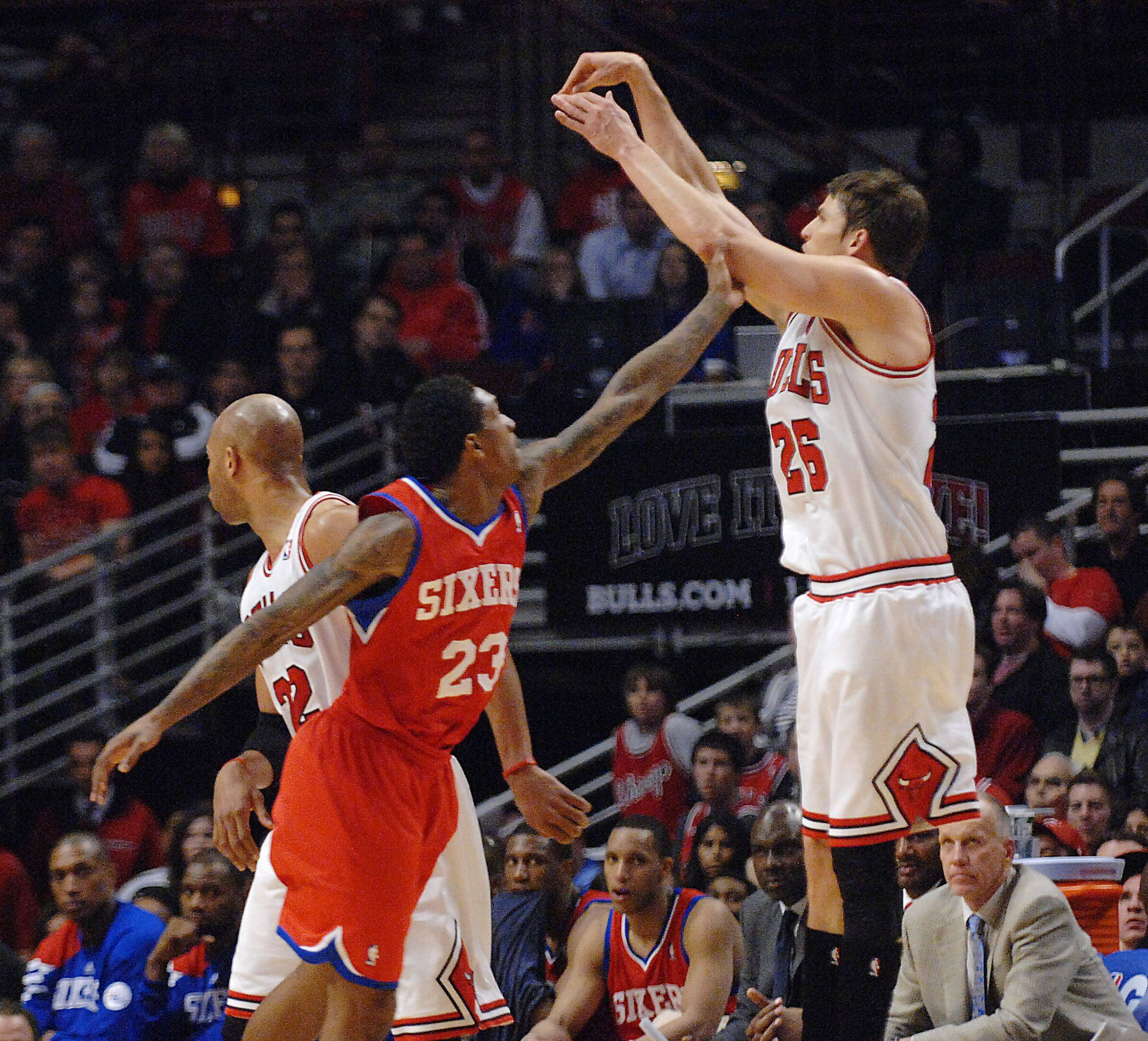 The Bulls' Kyle Korver, who suffered a rough first-round playoff series against the Sixers, has been traded to the Hawks, according to multiple reports.