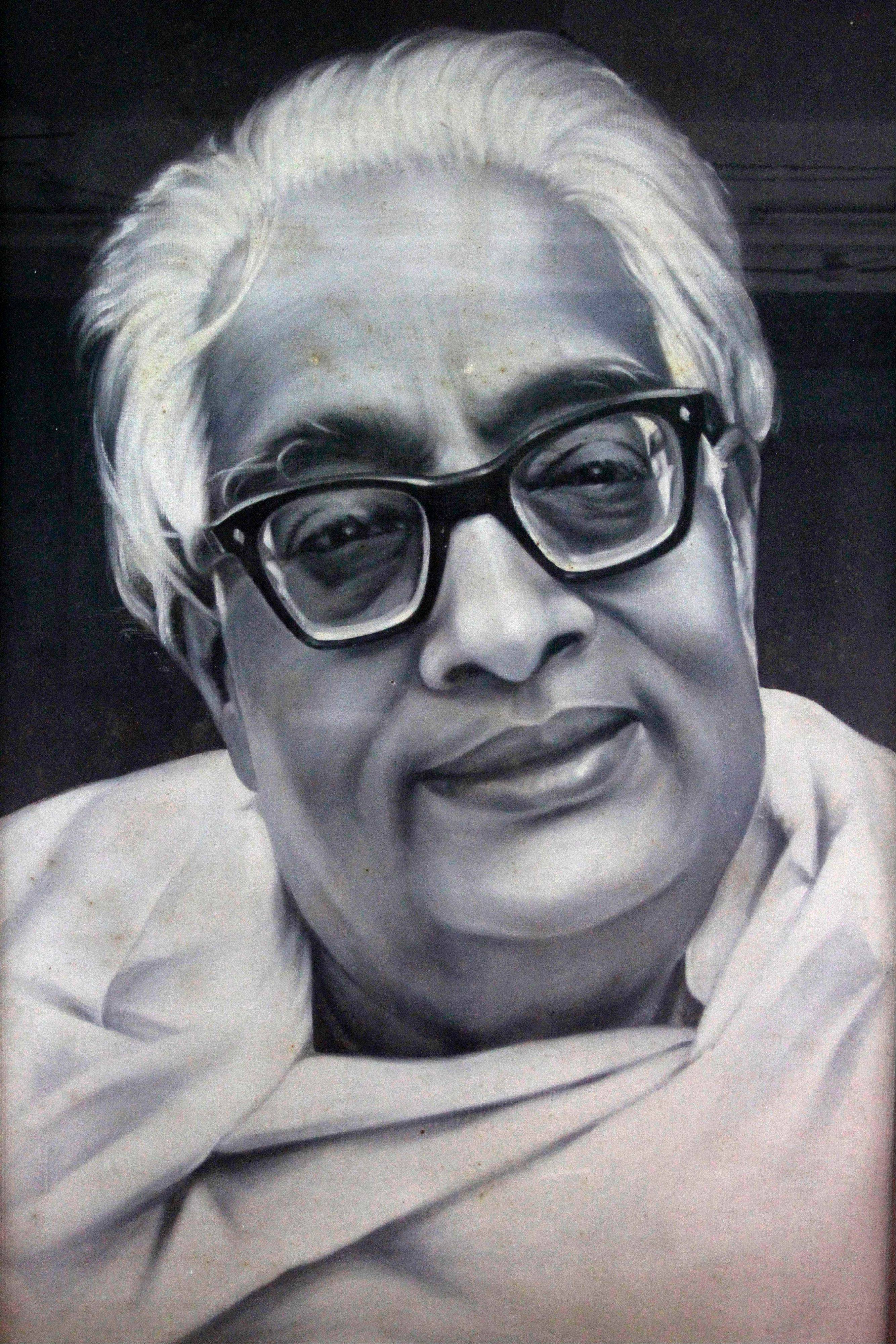 "This undated photo of a painting provided by the Bangiya Vigyan Parishad or the Bengal Science Society in Kolkata, India shows Indian scientist Satyendranath Bose. While much of the world was celebrating the international cooperation that led to last week's breakthrough in identifying the existence of the Higgs boson particle, many in India were smarting over what they saw as a slight against one of their greatest scientists. Media covering the story gave lots of credit to British physicist Peter Higgs for theorizing the elusive subatomic ""God particle,"" but little was said about Satyendranath Bose, the Indian after whom the boson is named."
