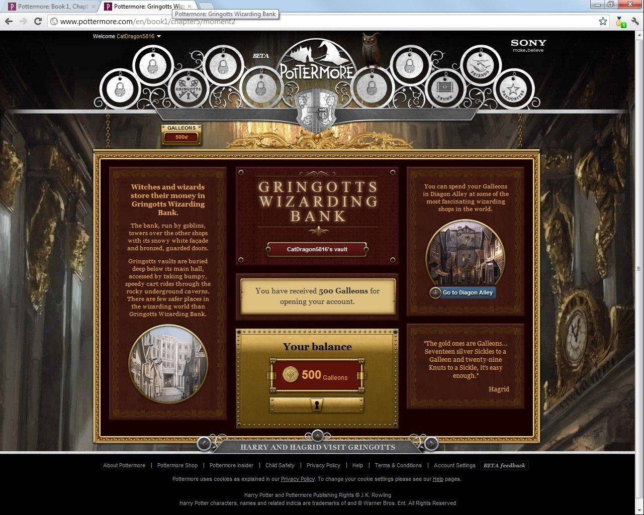 A screenshot of the website Pottermore. One million fans who were able to solve riddles and find a Magical Quill have had a chance to try out Pottermore for nearly a year. The rest of us, the magic-free Muggles, had to wait until it opened to the general public this spring.