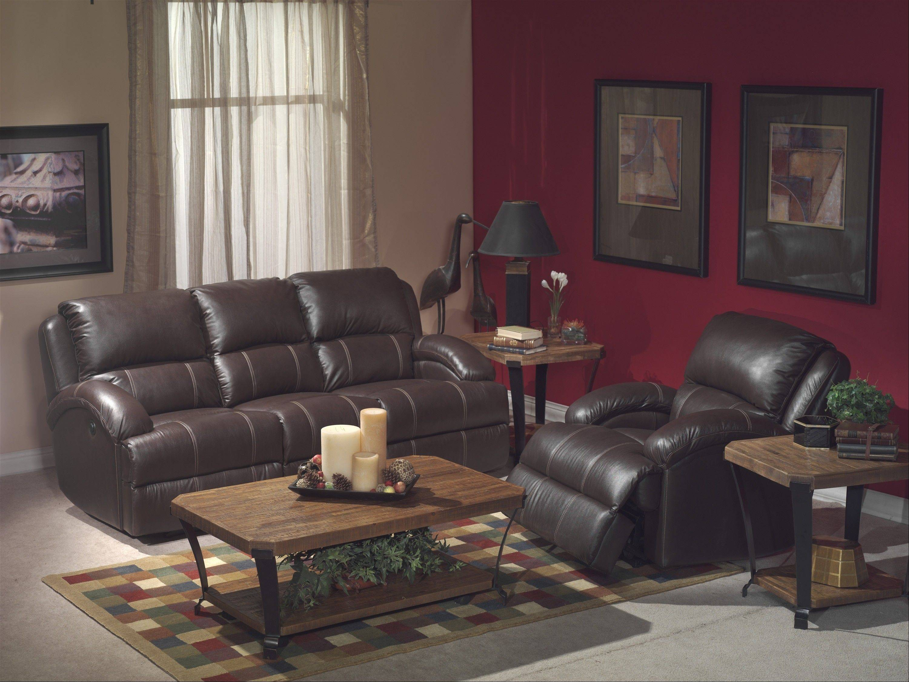 Leather recliners are still a popular choice for family rooms.