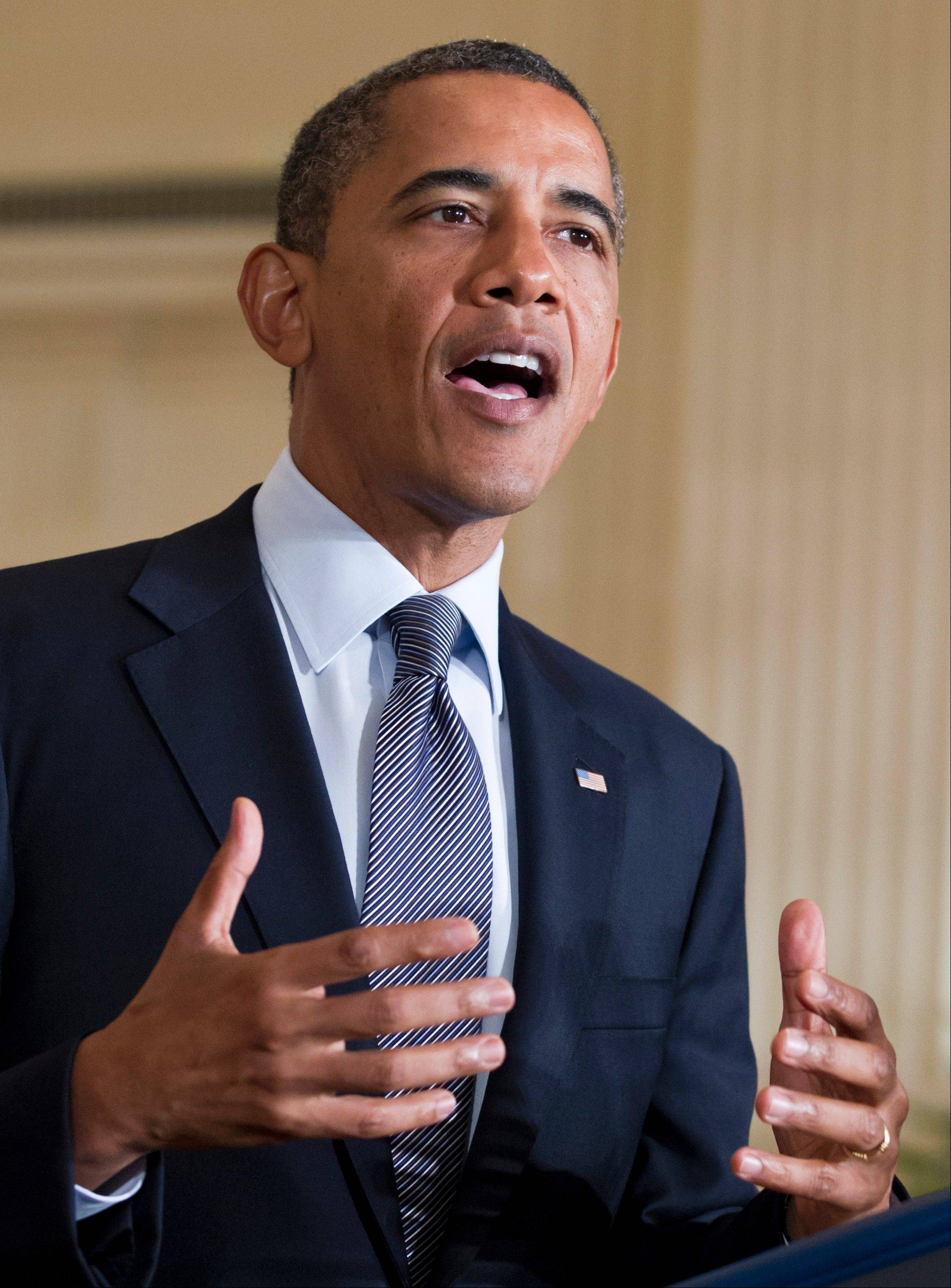 President Barack Obama lays out his plan to extend tax cuts for the middle class during an announcement from the East Room of the White House in Washington on July 9.