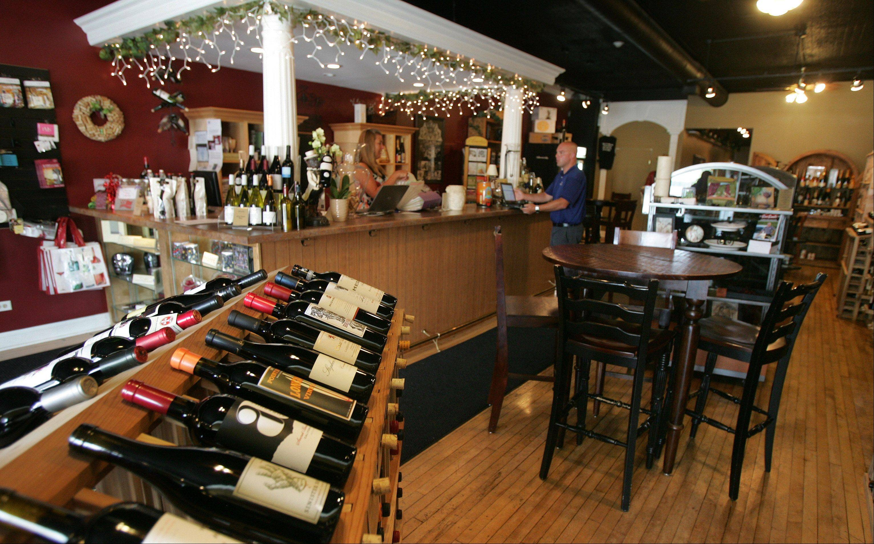 Bliss Wine & Gifts offers wine and appetizers and seating to enjoy takeout from nearby restaurants. Downtown Wauconda is going through a change as the local bars and restaurants are giving way to greater diversity that is attracting people from outside the village.
