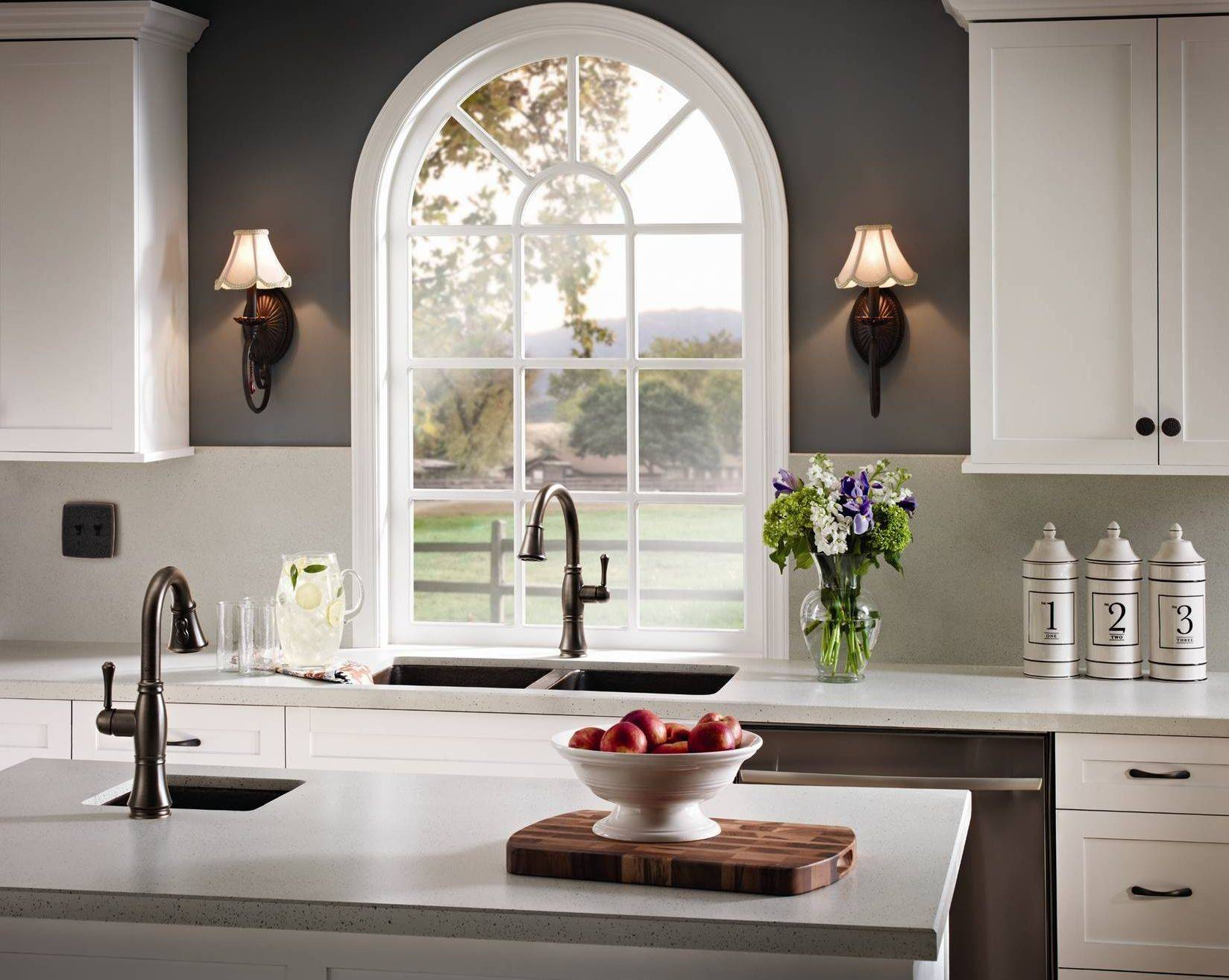 Delta's Cassidy faucets are available for the kitchen as well as the bath.