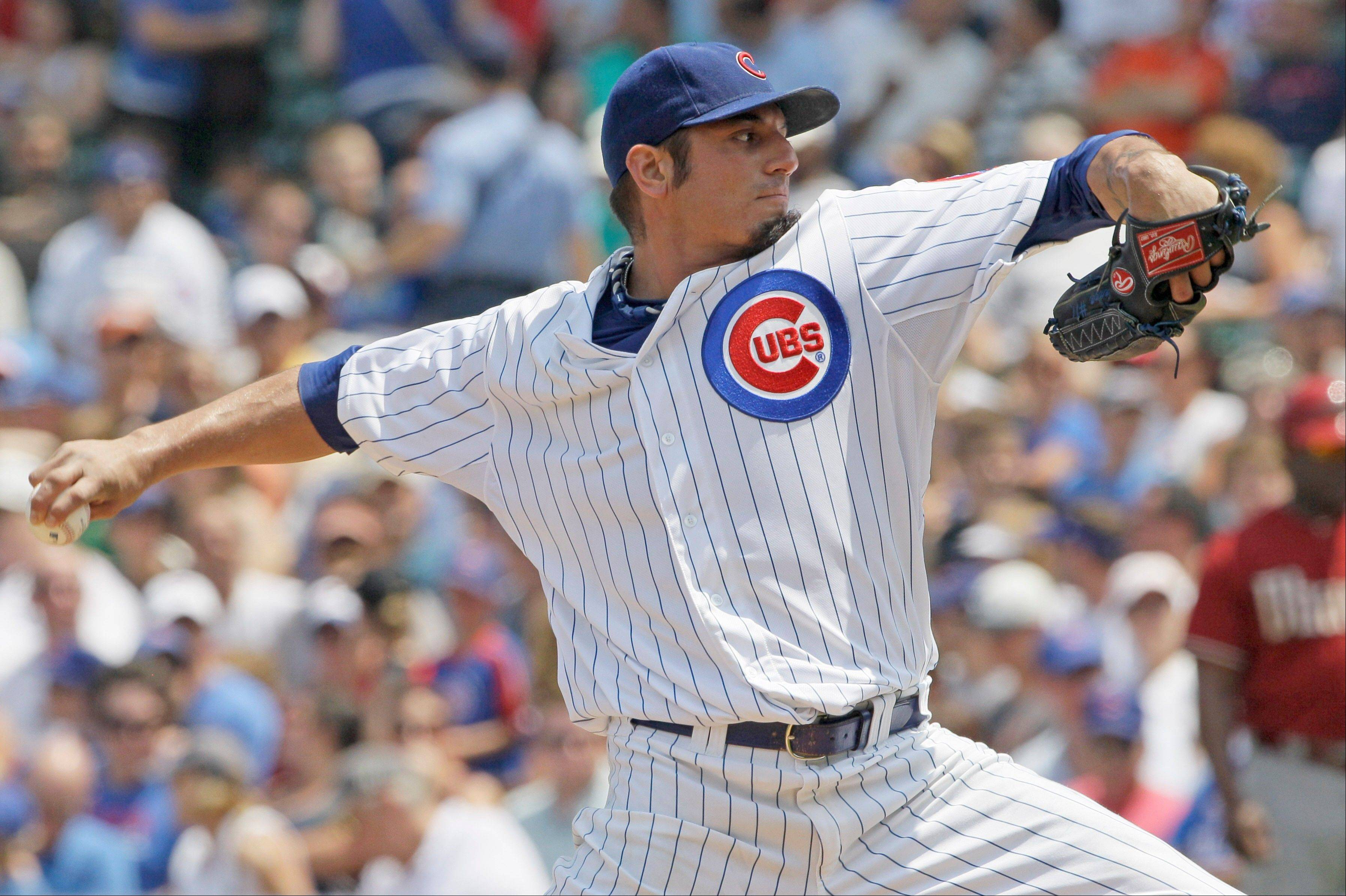 Starter Matt Garza worked 7 scoreless innings Sunday to help the Cubs sweep the Diamondbacks out of Wrigley Field.
