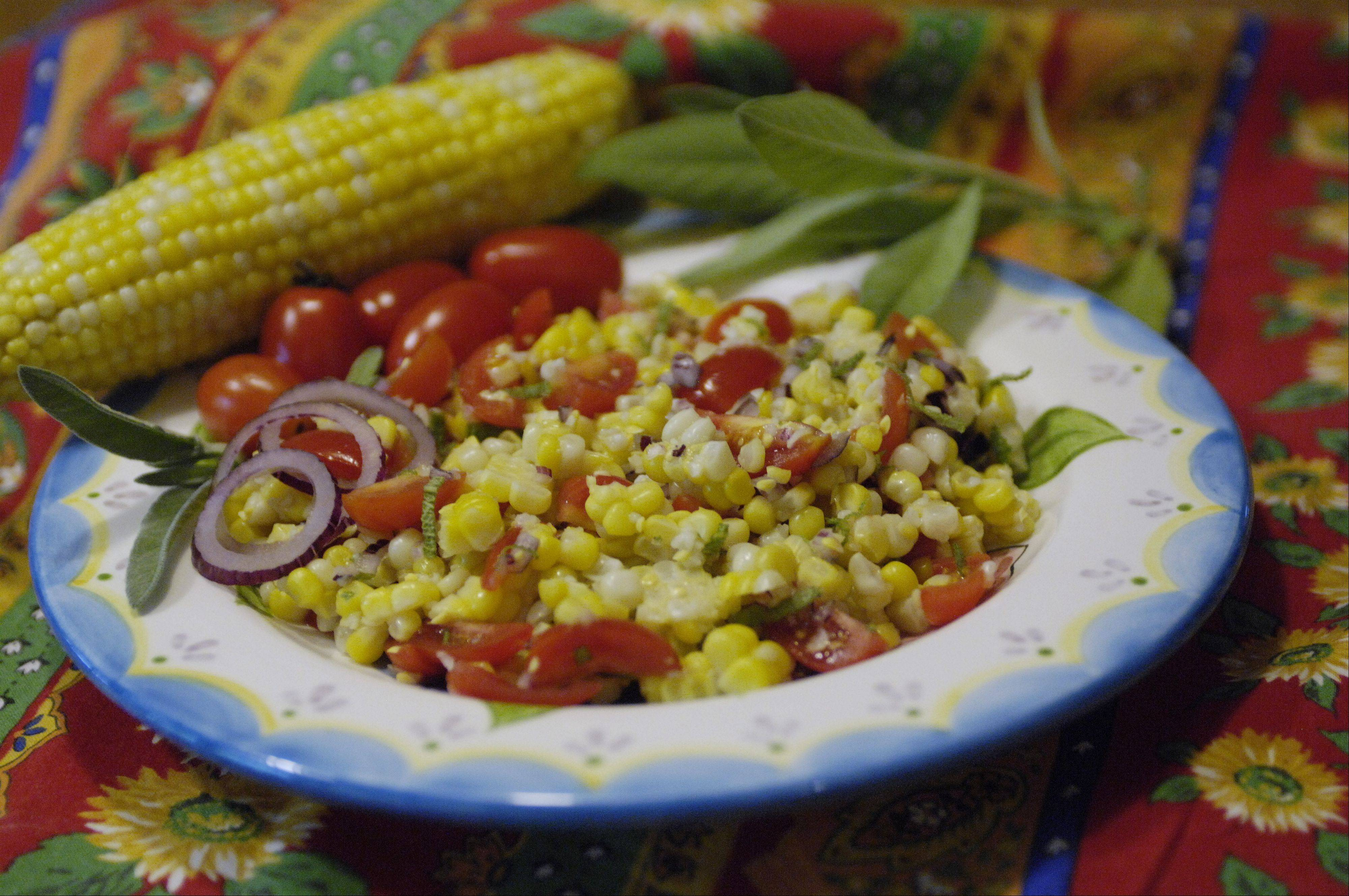 Don't waste cooked corn on the cob. Use the kernels in a summer corn salad.