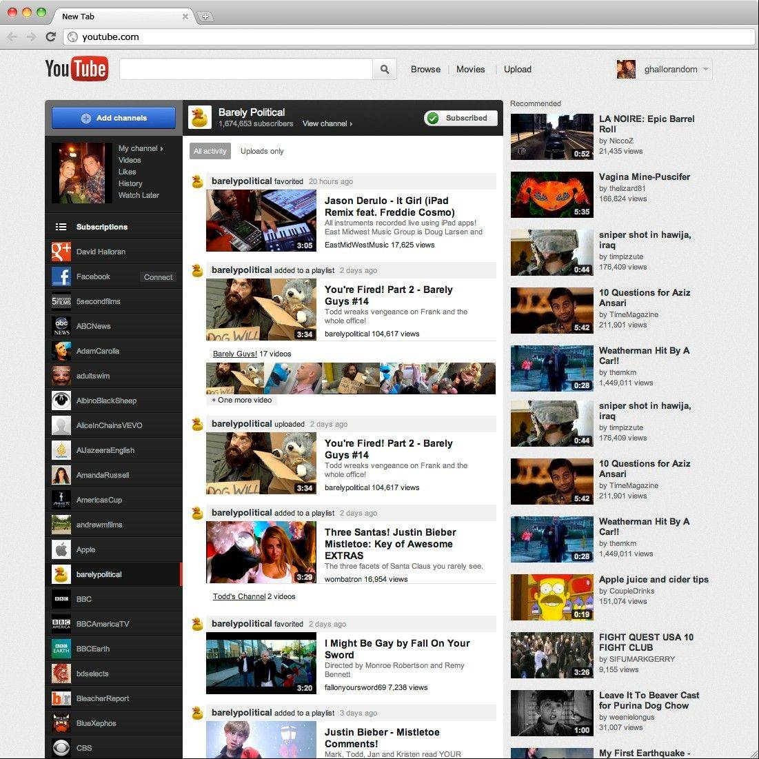 This file image of a screen grab provided by Google shows the YouTube website.