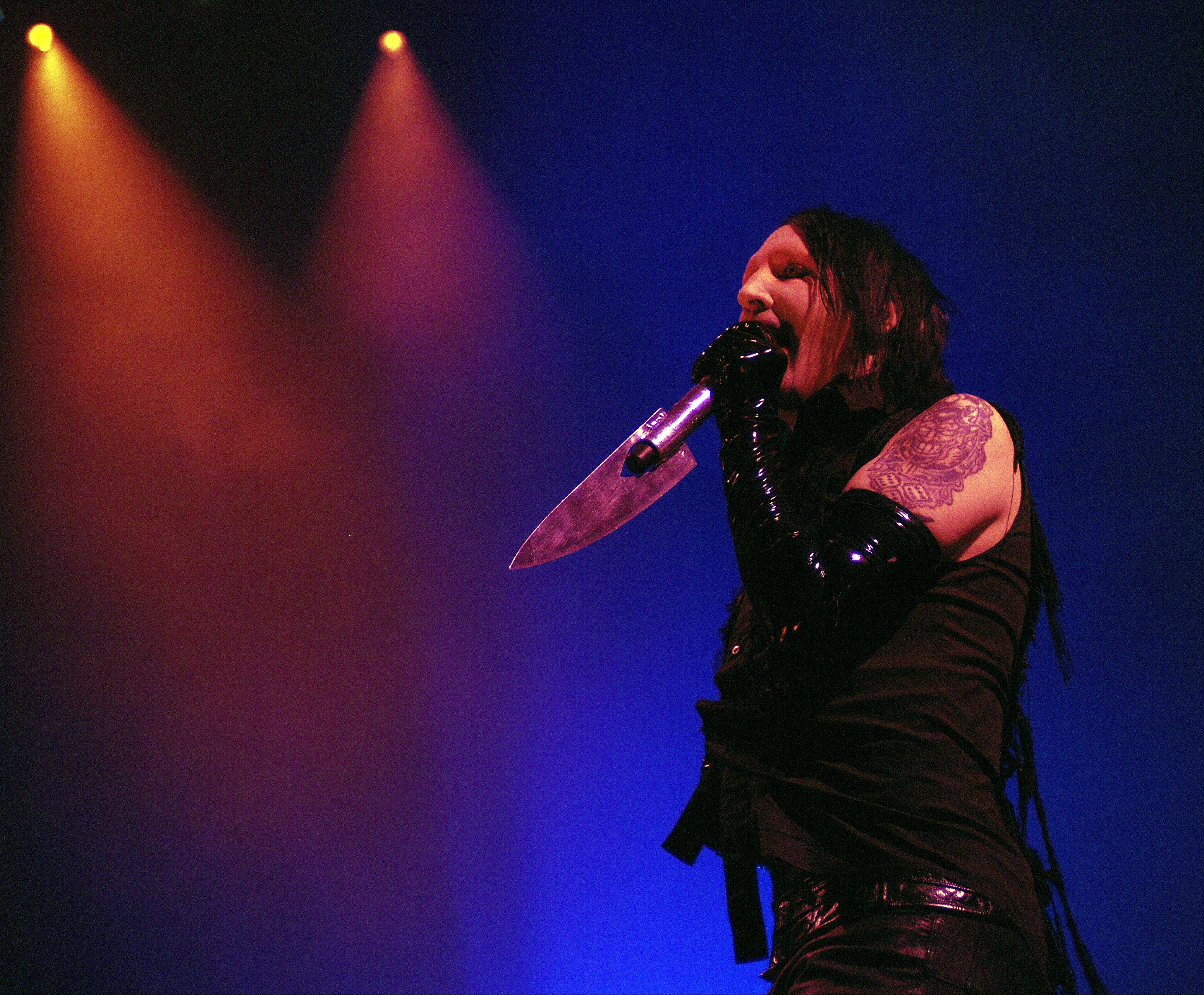"Shock rocker Marilyn Manson will join Rob Zombie to co-headline the ""Twins of Evil"" tour which makes a stop at the Allstate Arena in Rosemont on Oct. 11. Tickets go on sale Saturday."