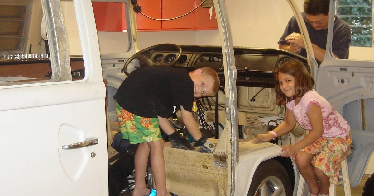 vw bus turned   family van