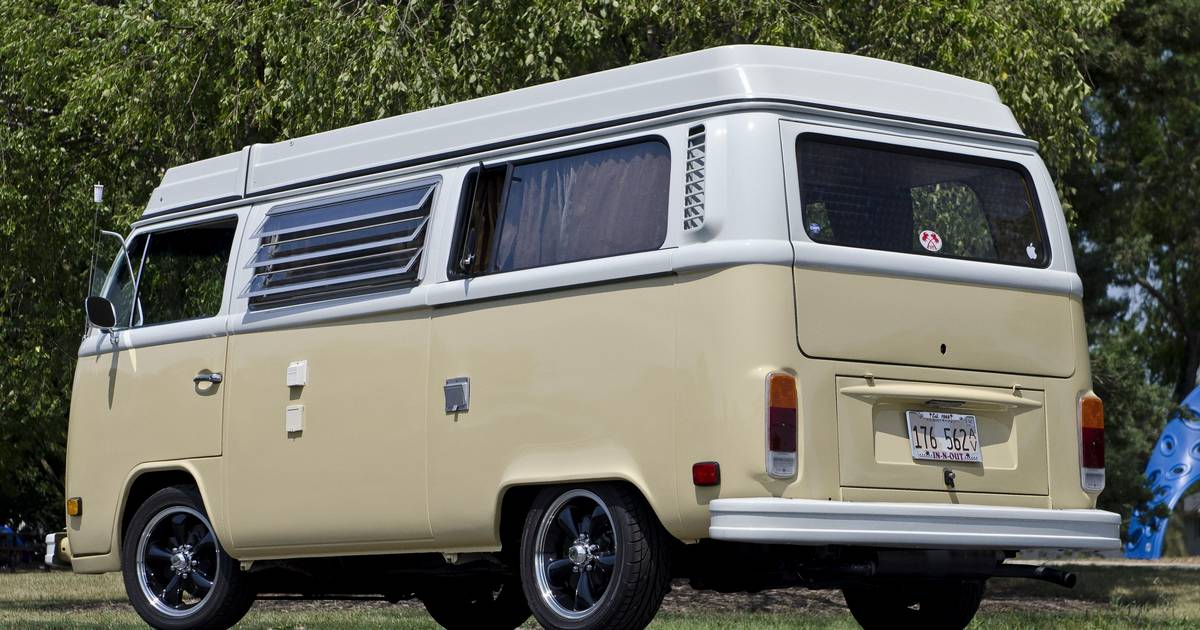 VW bus turned into a family van