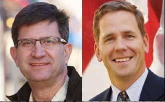 10th Congressional District candidates Bob Dold (right) and Brad Schneider