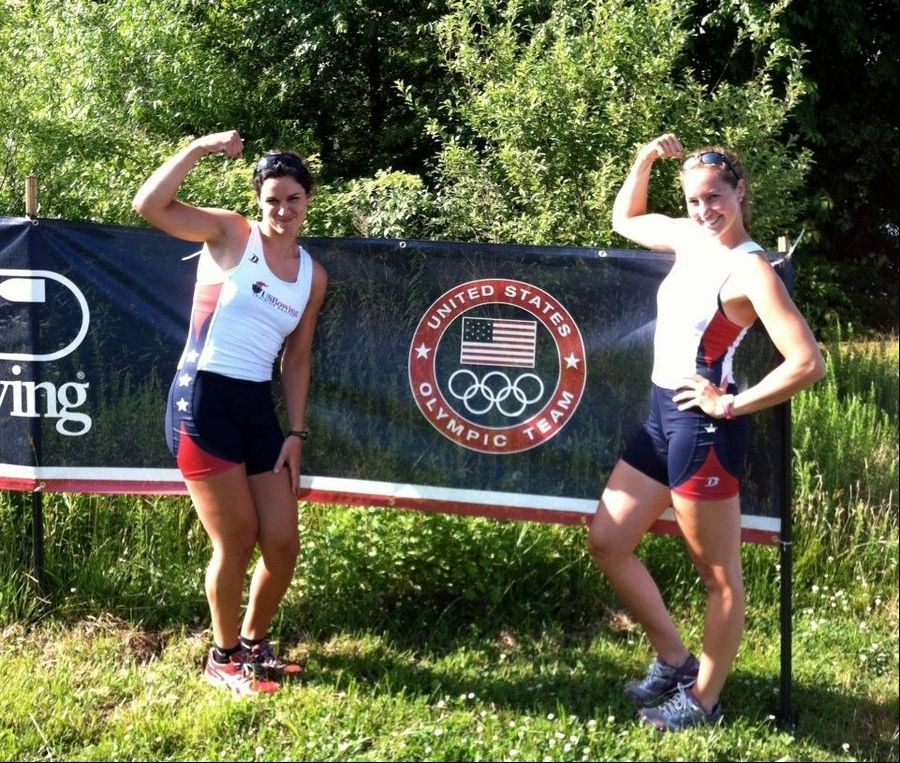 Itasca resident Sarah Zelenka, right, and her rowing partner Sara Hendershot qualified to compete in this year's Summer Olympics in London.