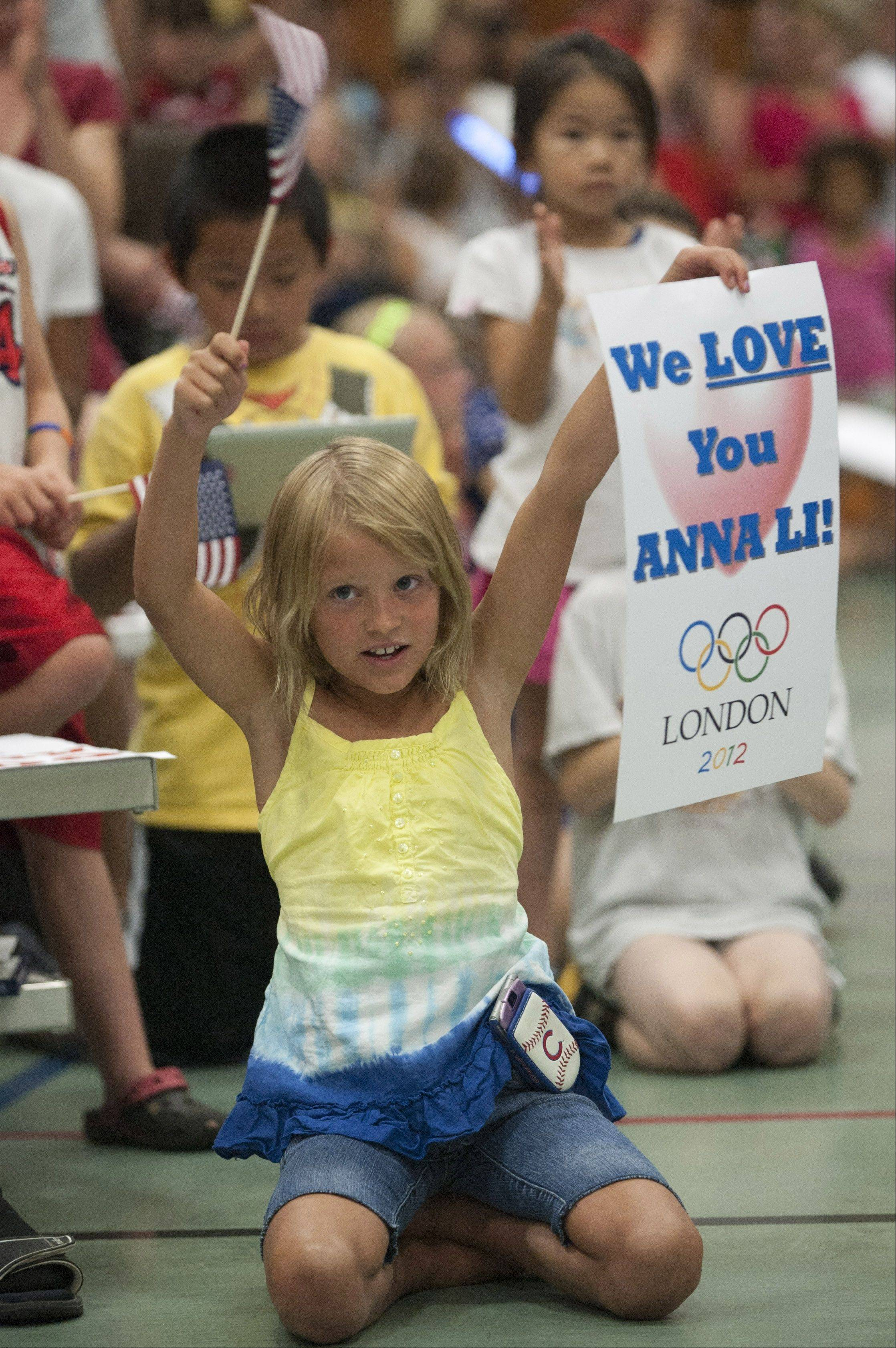 Fans from all over gather in Aurora on Monday, to send-off Anna Li who was chosen last Sunday as an alternate member of the U.S. Women's Gymnastics Team for the upcoming London Olympic Games.