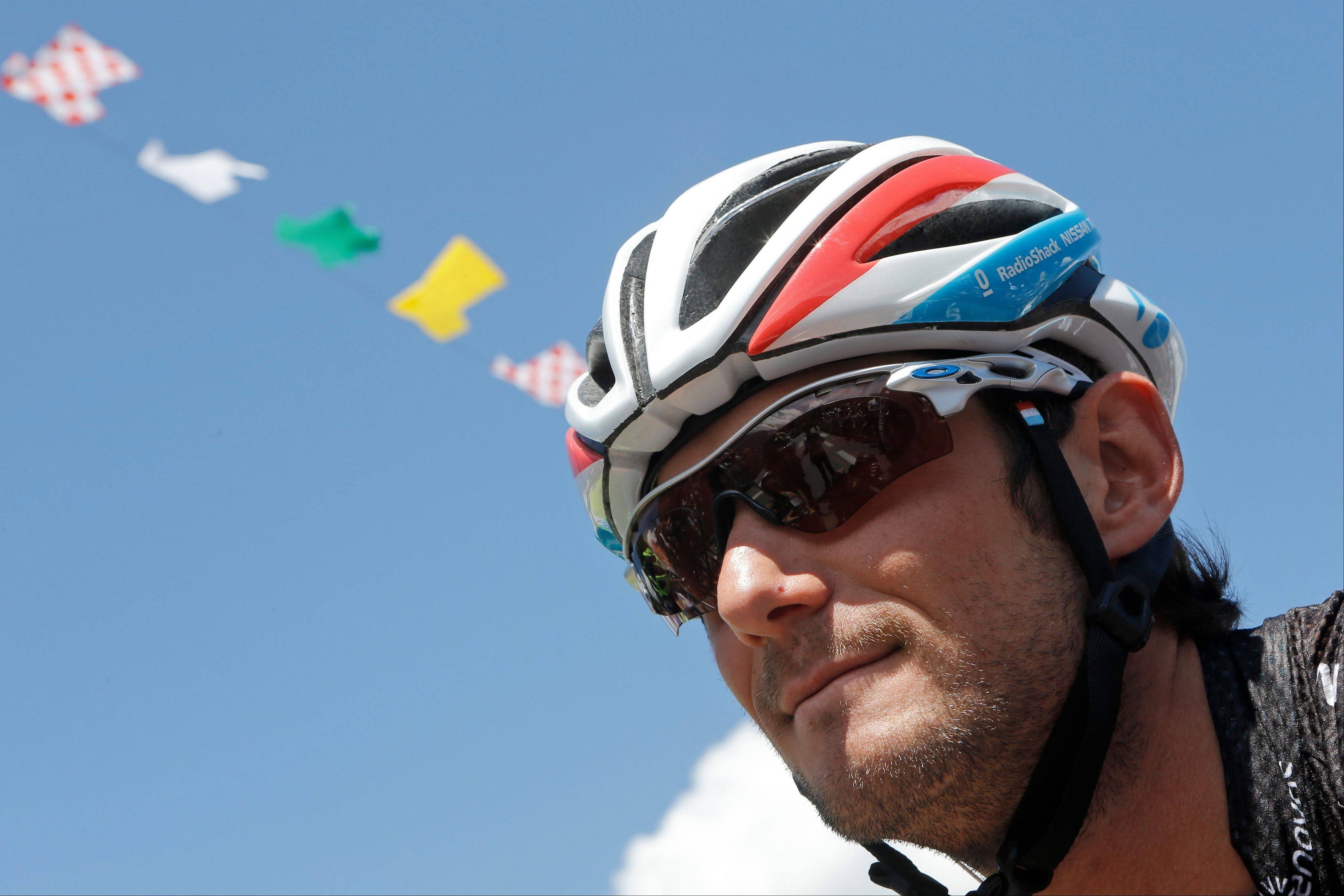 Cycling�s governing body UCI says Frank Schleck has tested positive for a banned diuretic during the Tour de France.