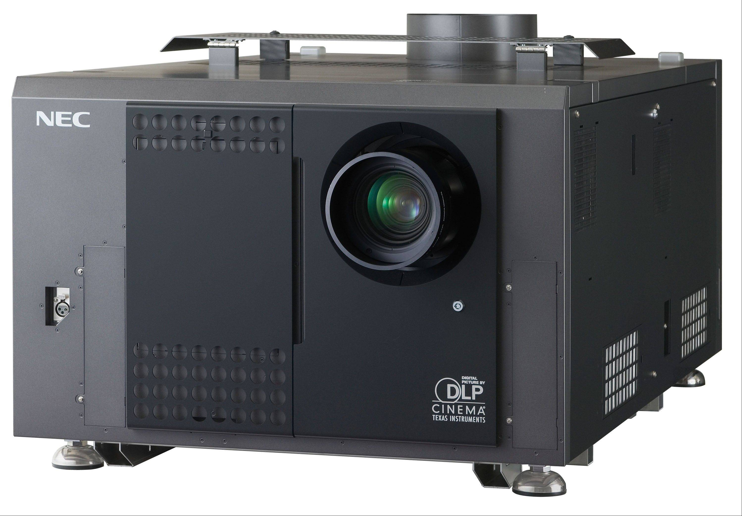 NEC in Itasca is one of four companies nationwide that makes digital projectors for movie theaters. Digital projectors, like NEC's NC3240S pictured here, can cost $50,000 to $75,000, which includes additional equipment and installation.