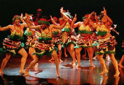 Muntu Dance Theatre performs at Millennium Park's Harris Theater for Music and Dance in Chicago on Saturday, July 21.