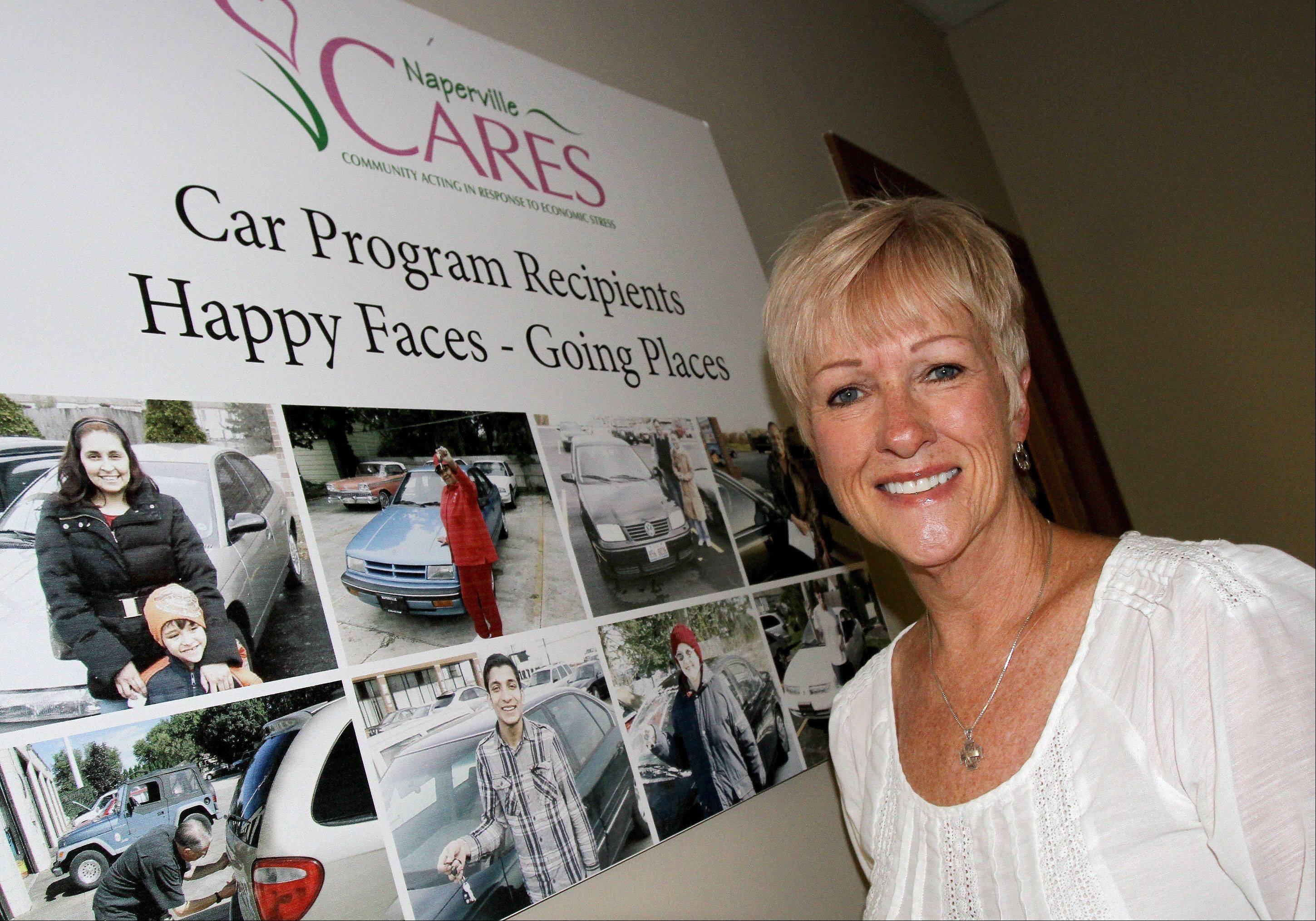 Naperville resident Jeneane Ryan recently received the Volunteer of the Year award from Naperville CARES. She spends five or six hours a week with the organization helping people in financial need find solutions to their dilemmas.