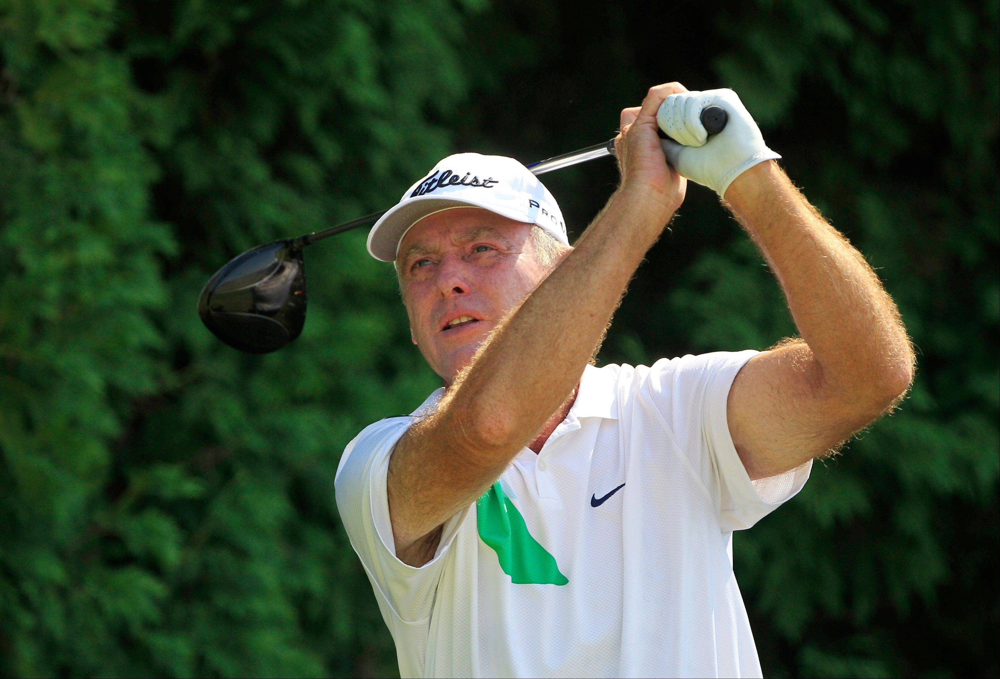 Illinois golfer Lance Ten Broeck played solidly at the U.S. Senior Open last week, but his putting kept him from winning the event.
