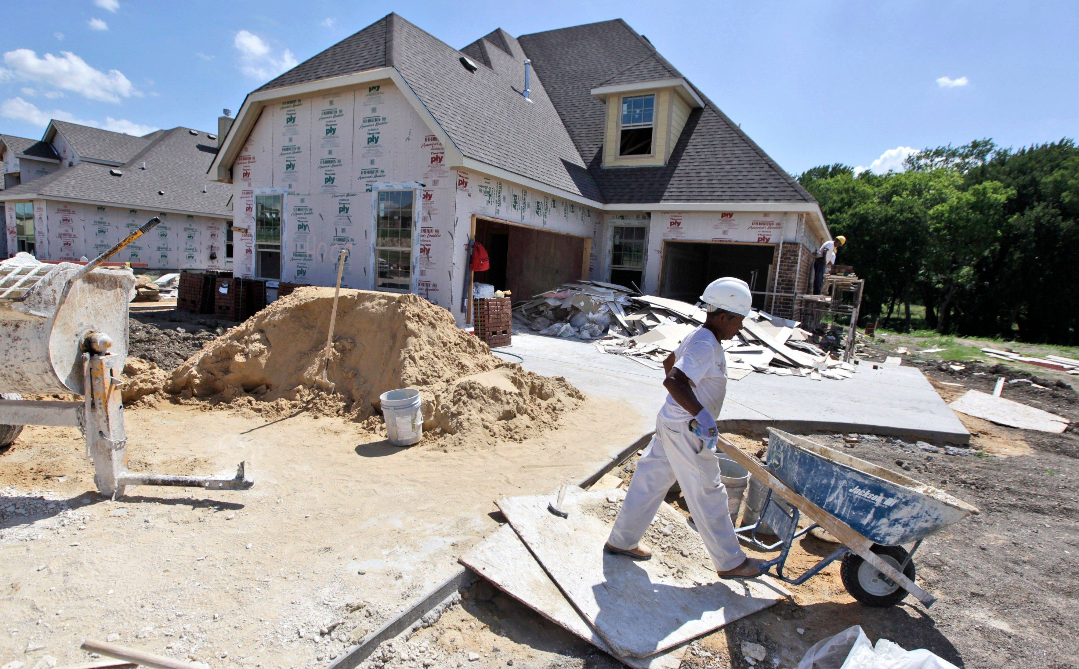 U.S. builders broke ground on the most new homes and apartments in nearly four years last month, the latest evidence of a slow housing recovery. The Commerce Department said Wednesday that housing starts rose 6.9 percent in June from May to a seasonally adjusted annual rate of 760,000. That's the highest since October 2008.
