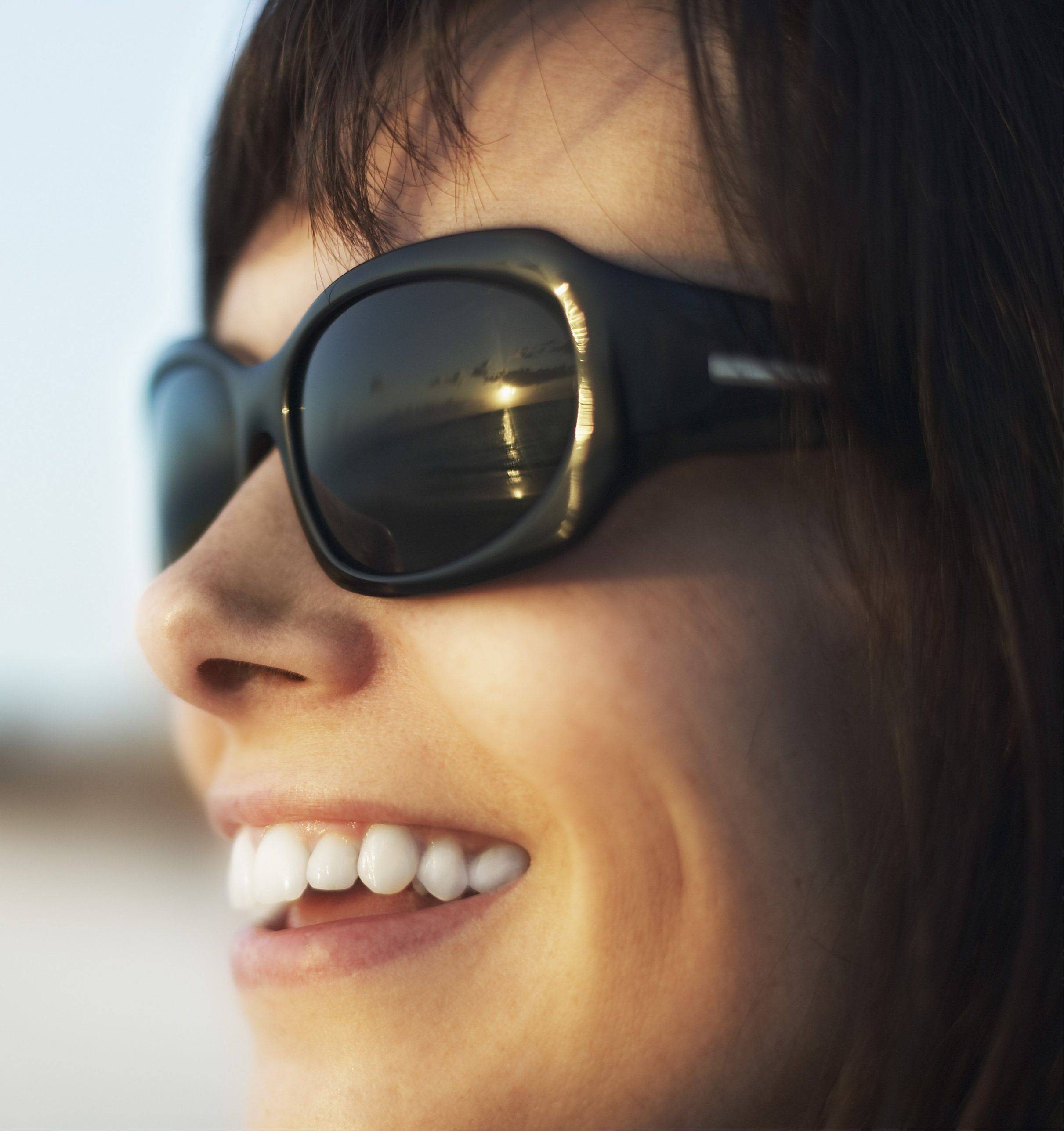 Wearing the right kind of sunglasses can protect your eyes from the sun's harsh rays.