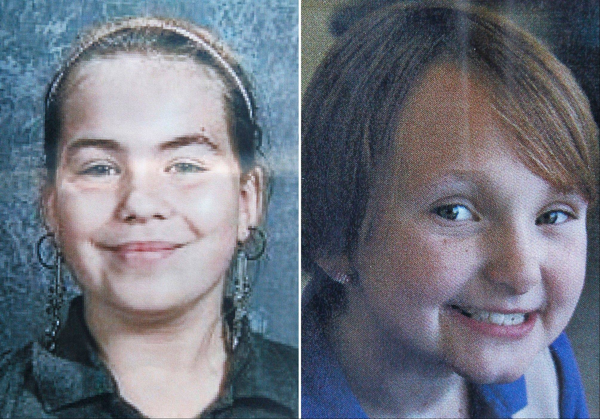 Cousins Lyric Cook-Morrissey, 10, left, and Elizabeth Collins, 8, have been missing since Friday afternoon, July 13, 2012. The girls were last seen Friday afternoon leaving their grandmother's house in northeastern Iowa.