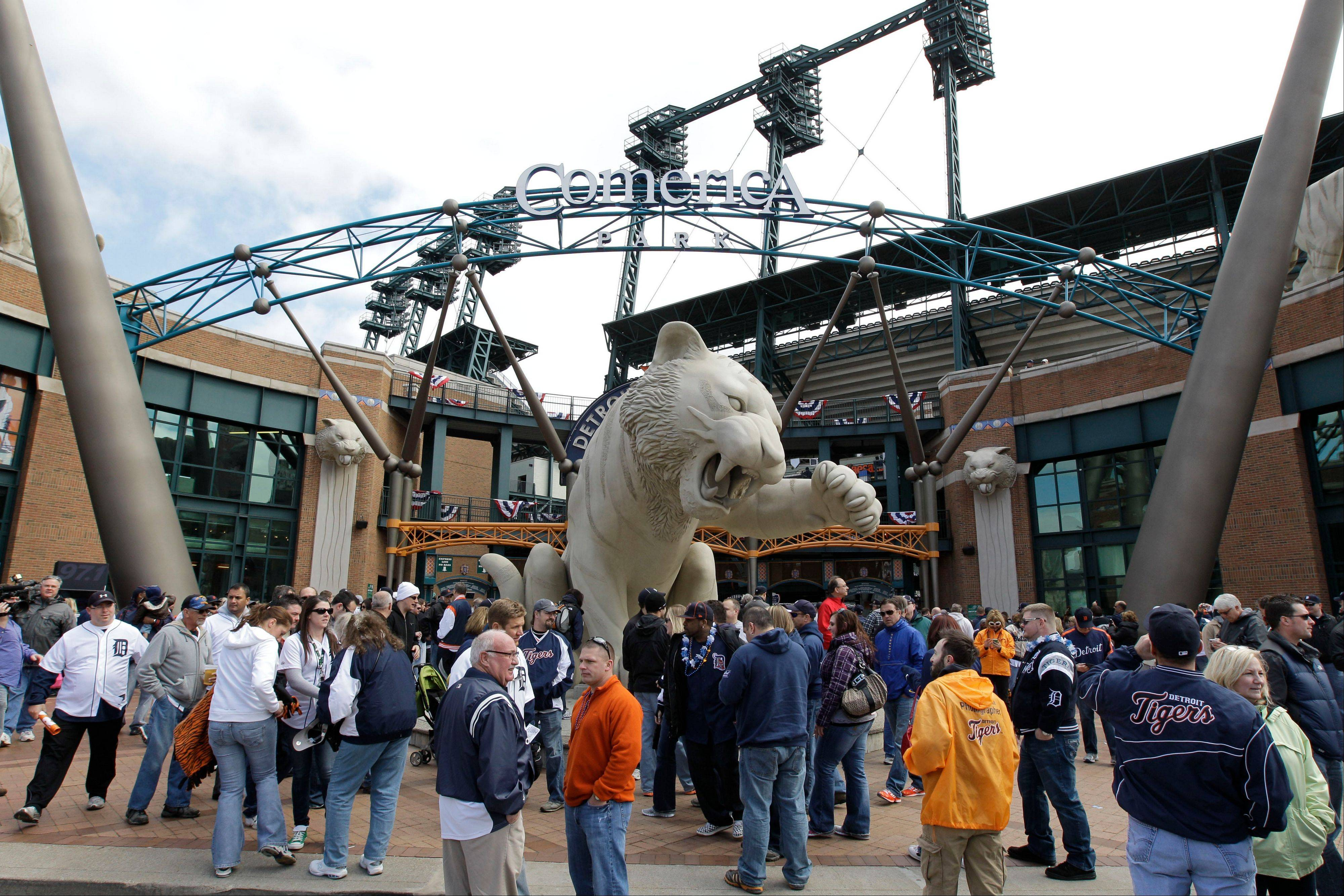 Comerica Park is the latest Detroit landmark to be the subject of a bomb threat. Police say an anonymous caller issued the threat in a 911 call around 8 p.m. Tuesday, July 17, 2012, as the Tigers were hosting the Los Angeles Angels in front of 34,000 fans.