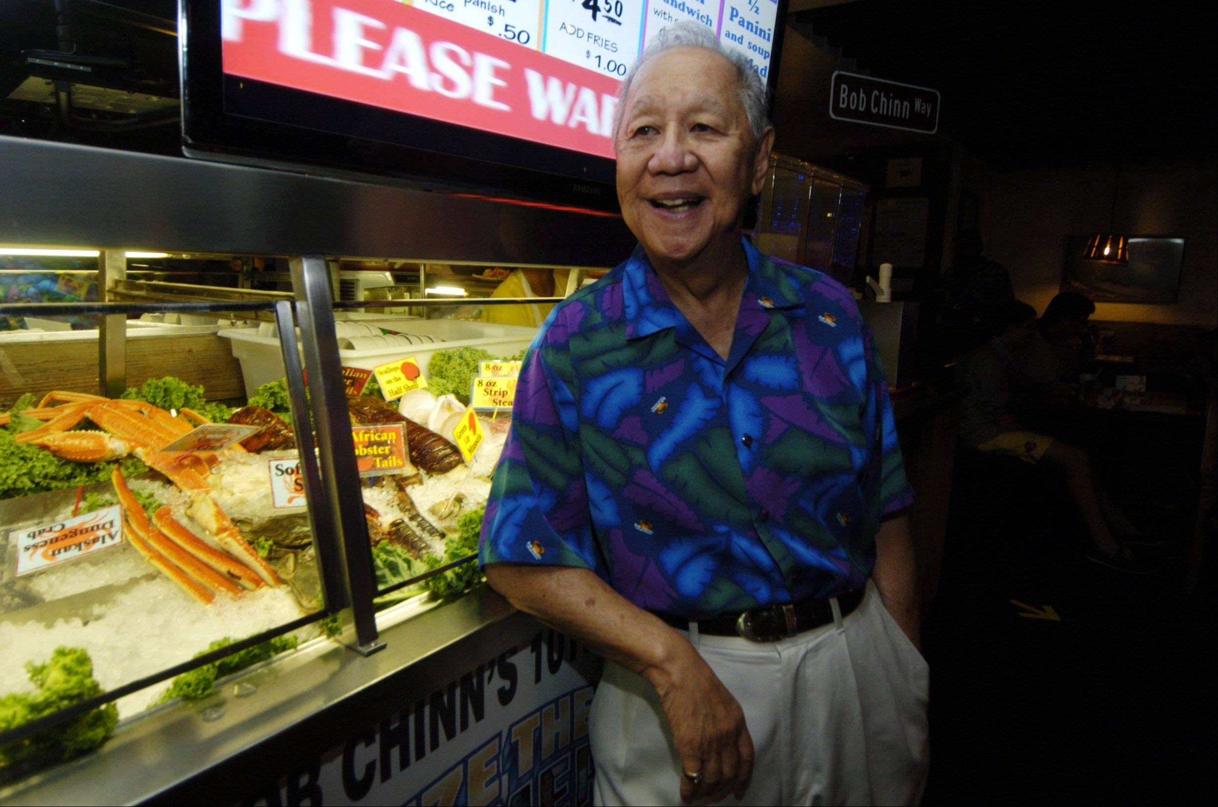 Bob Chinn, owner of Bob Chinn's Crab House in Wheeling, which has been named the top-grossing restaurant in the U.S.
