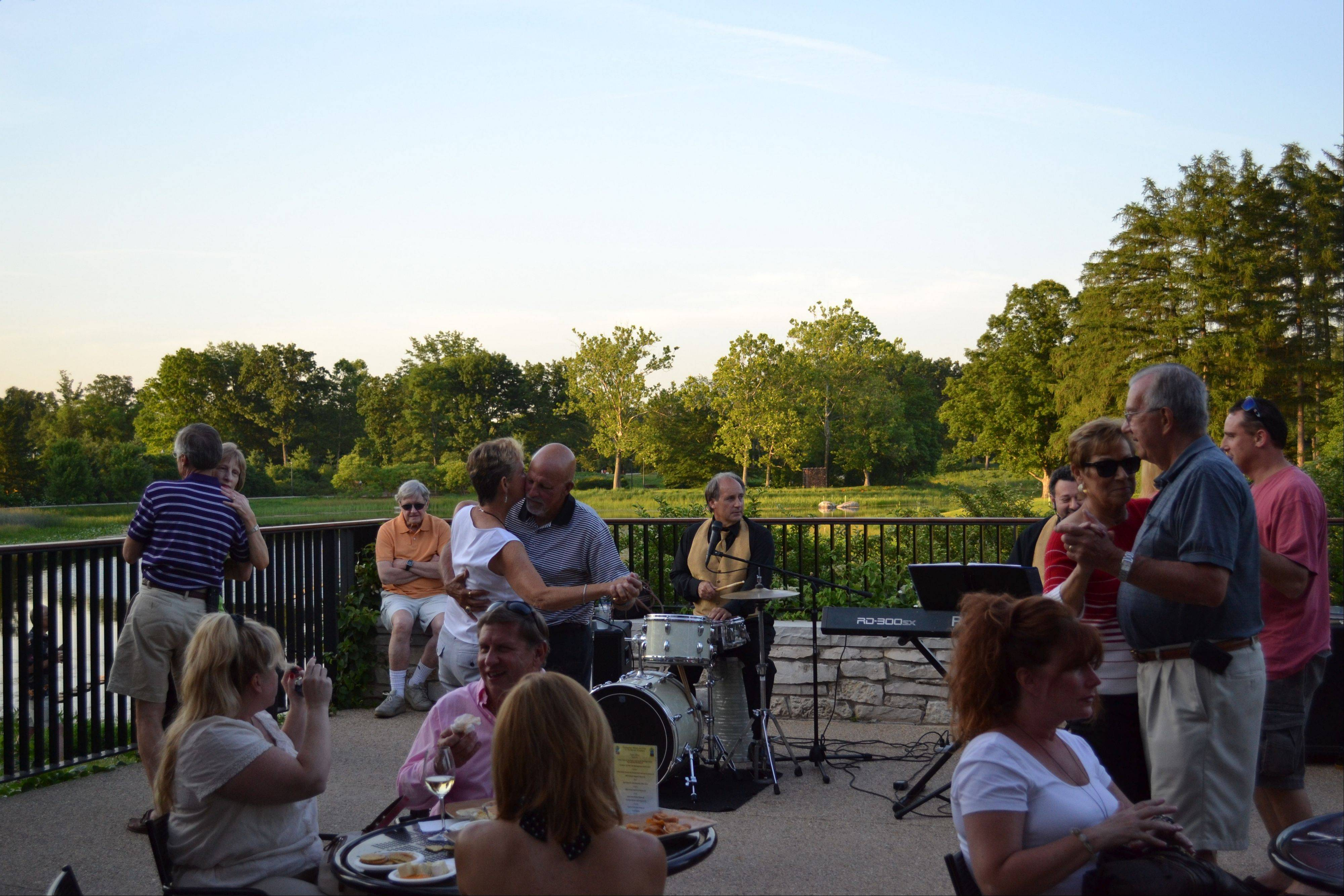 Enjoy wine, cheese and live music under the trees at the Morton Arboretum in Lisle on Wednesdays through August 15.