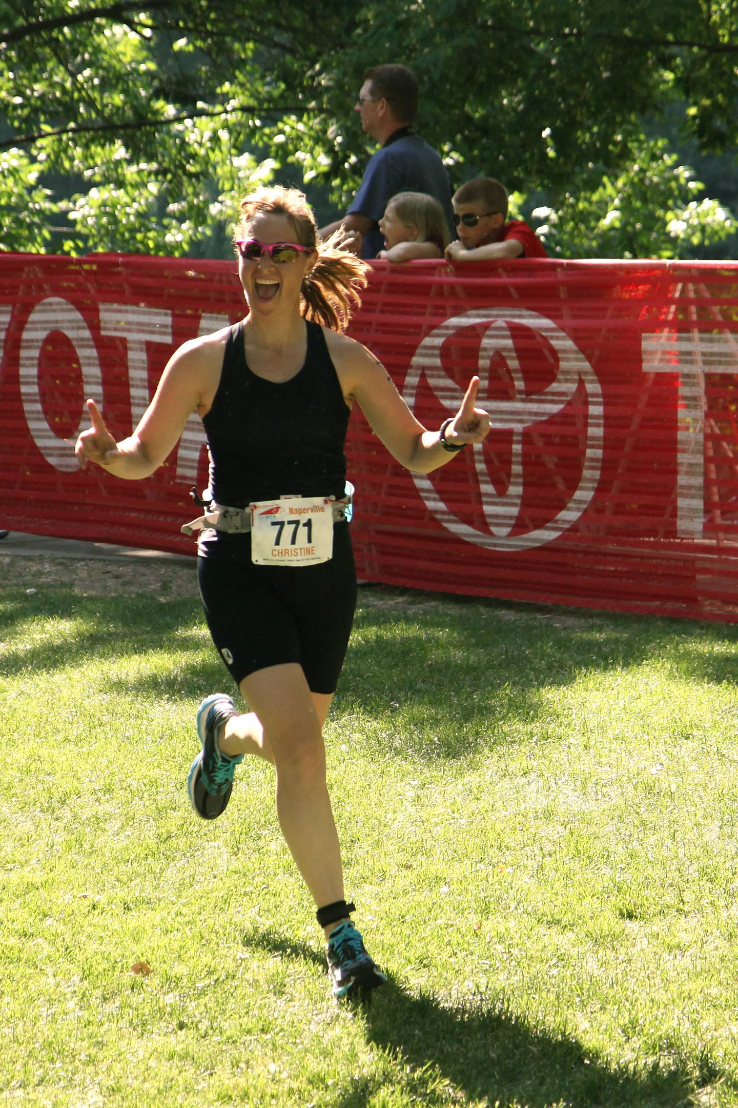 Baxter employee and DetermiNation runner Christine Marie Snyder in a previous race.