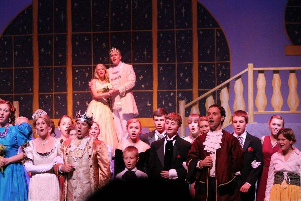 Members of the cast of the Kaneland Community Fine Arts Festival's production of 'Cinderella' light up the stage in this Rodgers and Hammerstein version of the classic fairy tale.
