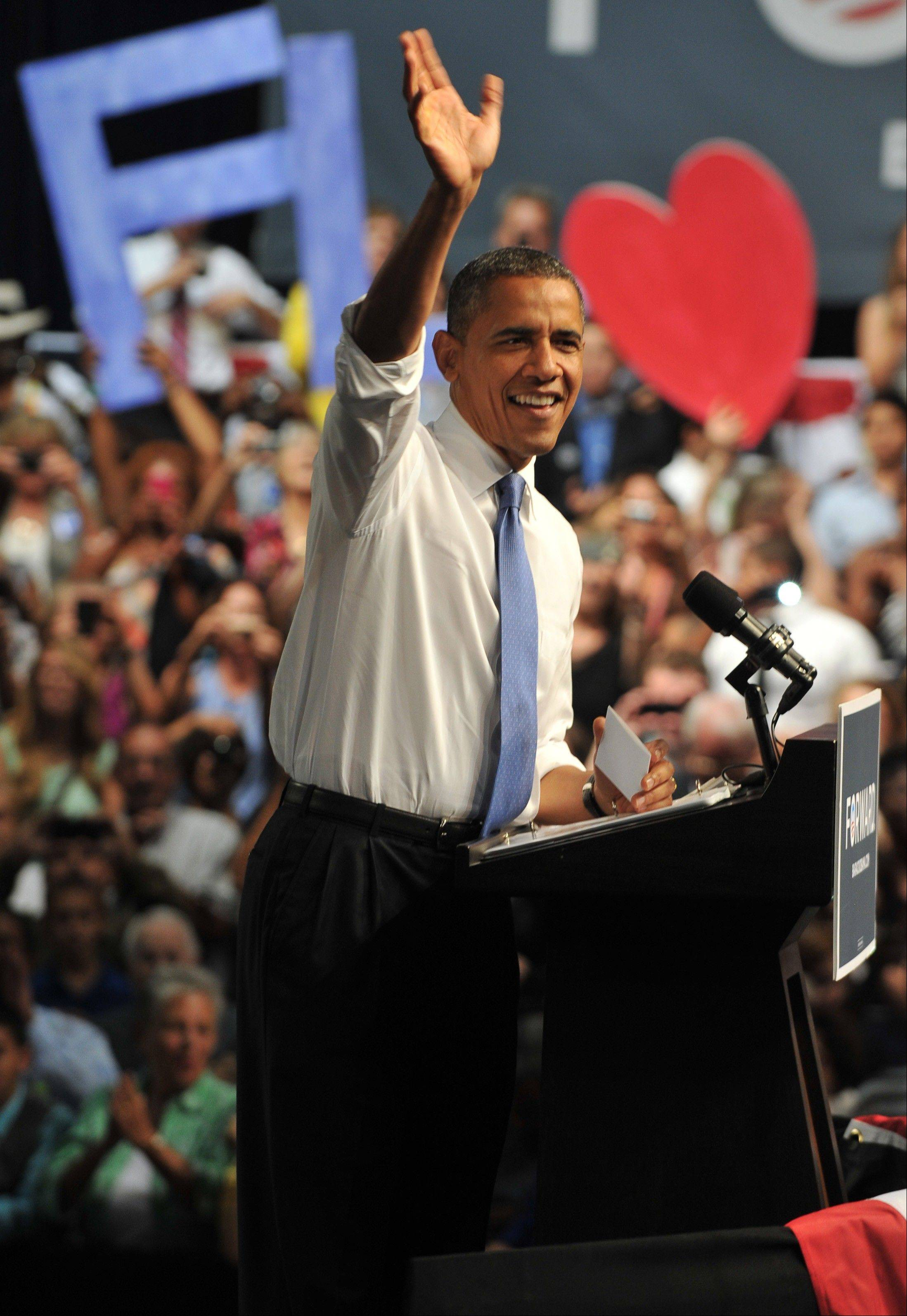 President Barack Obama opened a two-day trek through Florida by making appeals to the retirees, Hispanics and middle-income voters who are key to winning the nation�s most populous swing state.