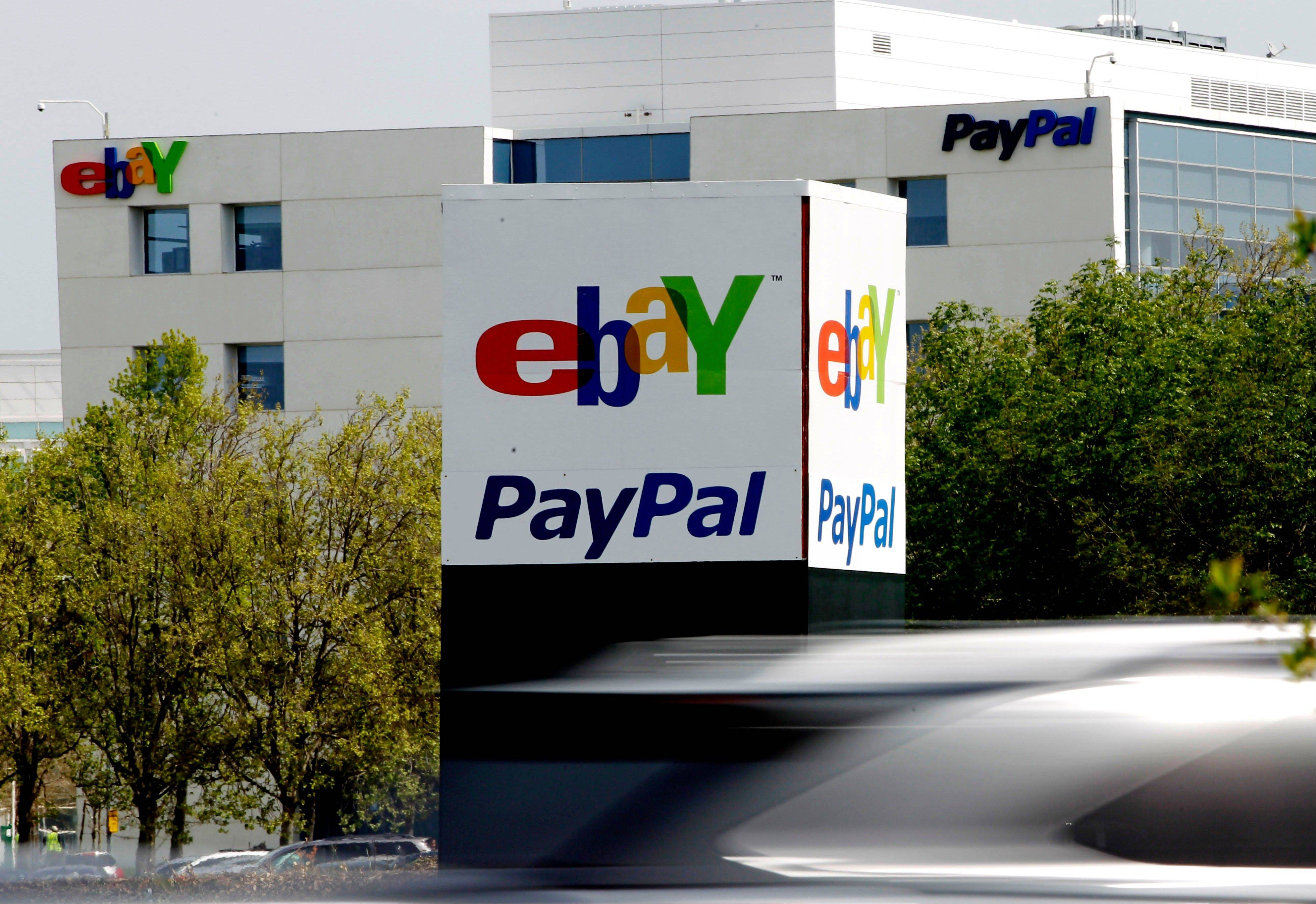 EBay Inc., the world's largest Internet marketplace, gained in German trading after reporting second-quarter sales and profit that beat analysts' estimates as more U.S. consumers shopped for new items on the site. Chief Executive Officer John Donahoe has increased spending on advertising and new technology to expand beyond EBay's auction roots and let shoppers buy more items in instant sales.