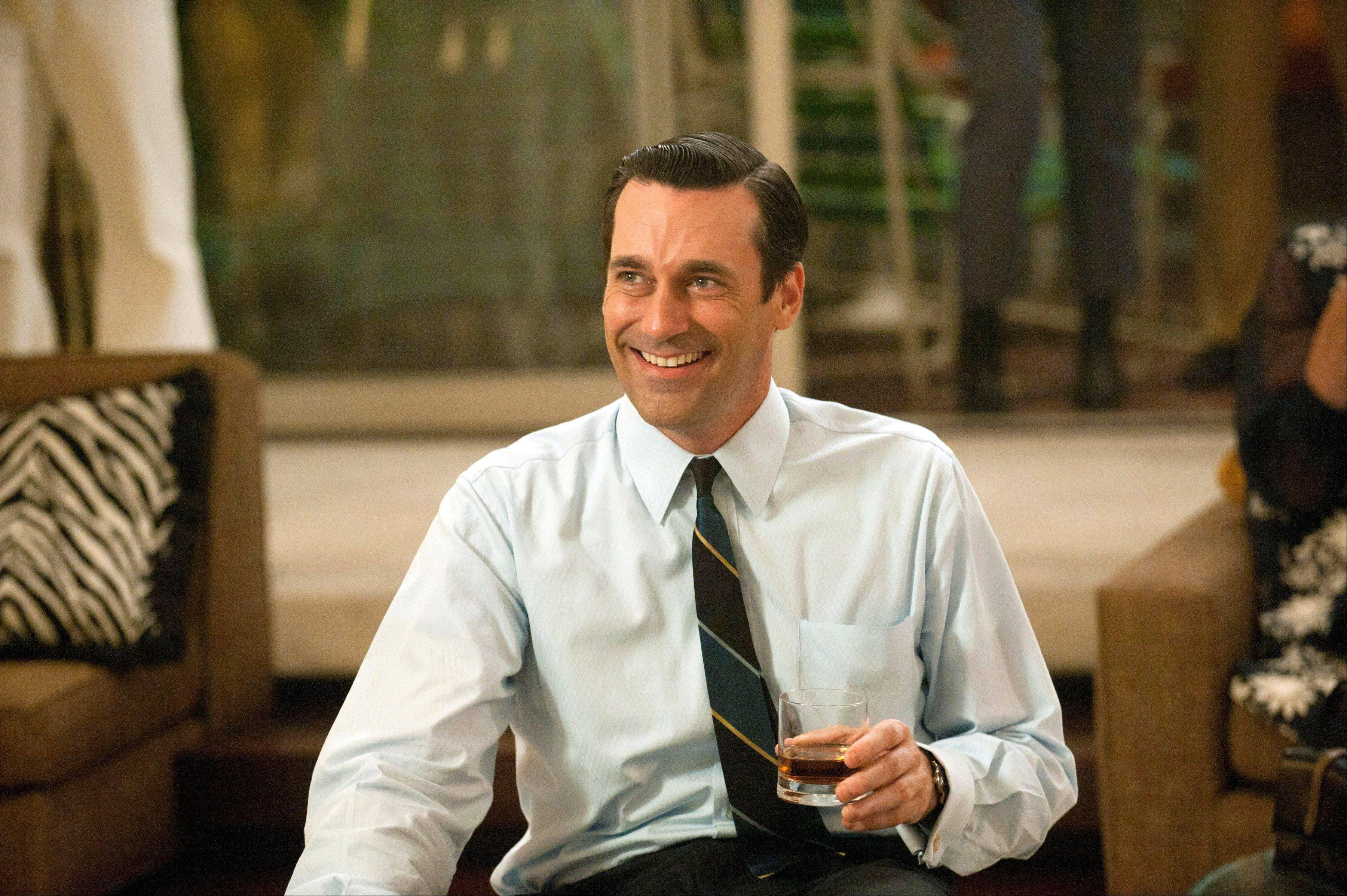 "Jon Hamm portrays advertising executive Don Draper in ""Mad Men,"" which was nominated for an Emmy award for outstanding drama series on Thursday."