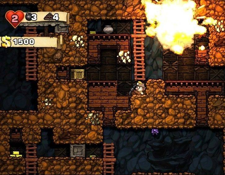"Hard-core gamers will enjoy the unforgiving difficulty of ""Spelunky."""