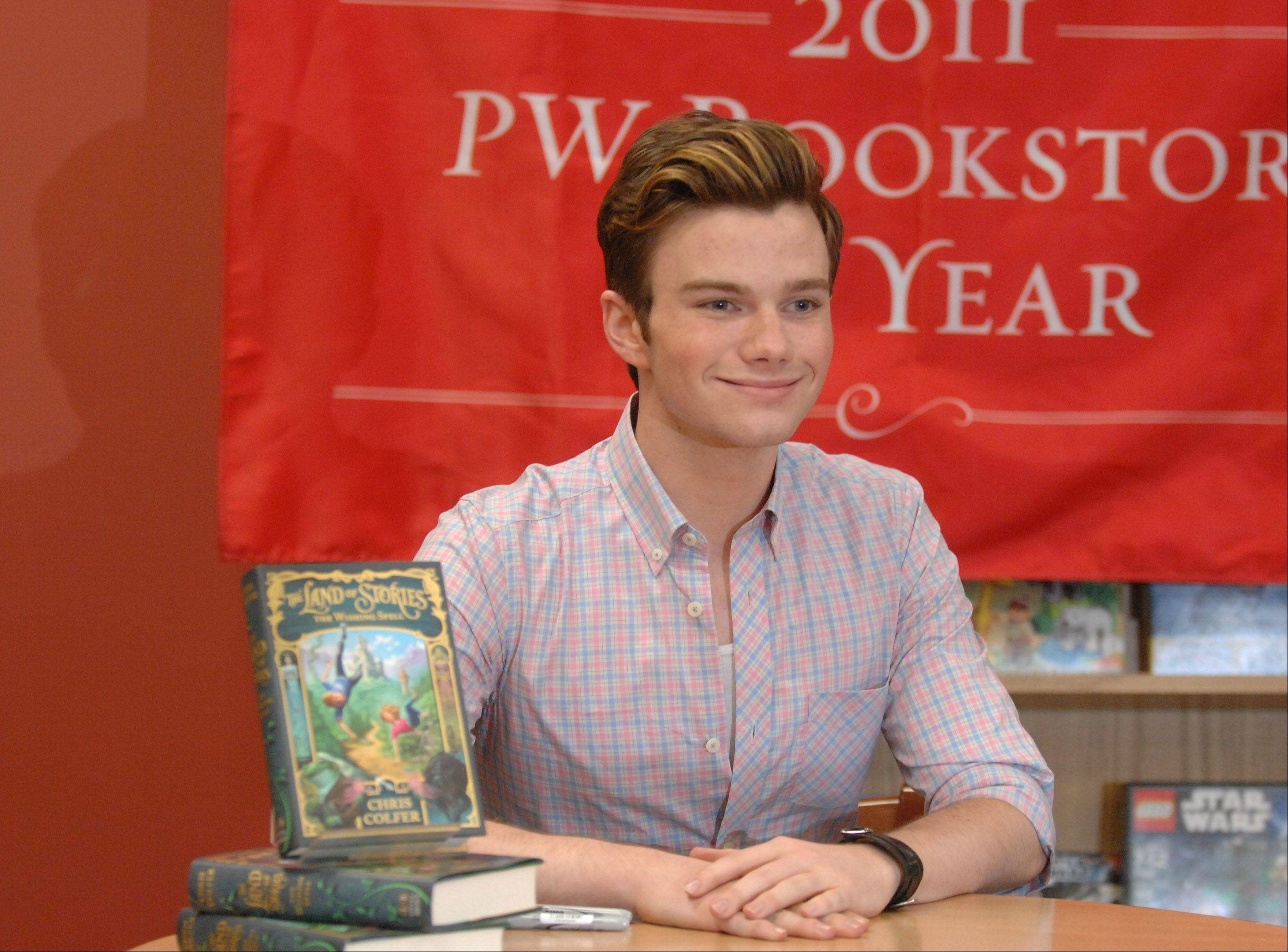 """Glee"" star Chris Colfer visits Anderson's Bookshop in Naperville on Thursday to promote his new book, ""The Land of Stories: The Wishing Spell."""