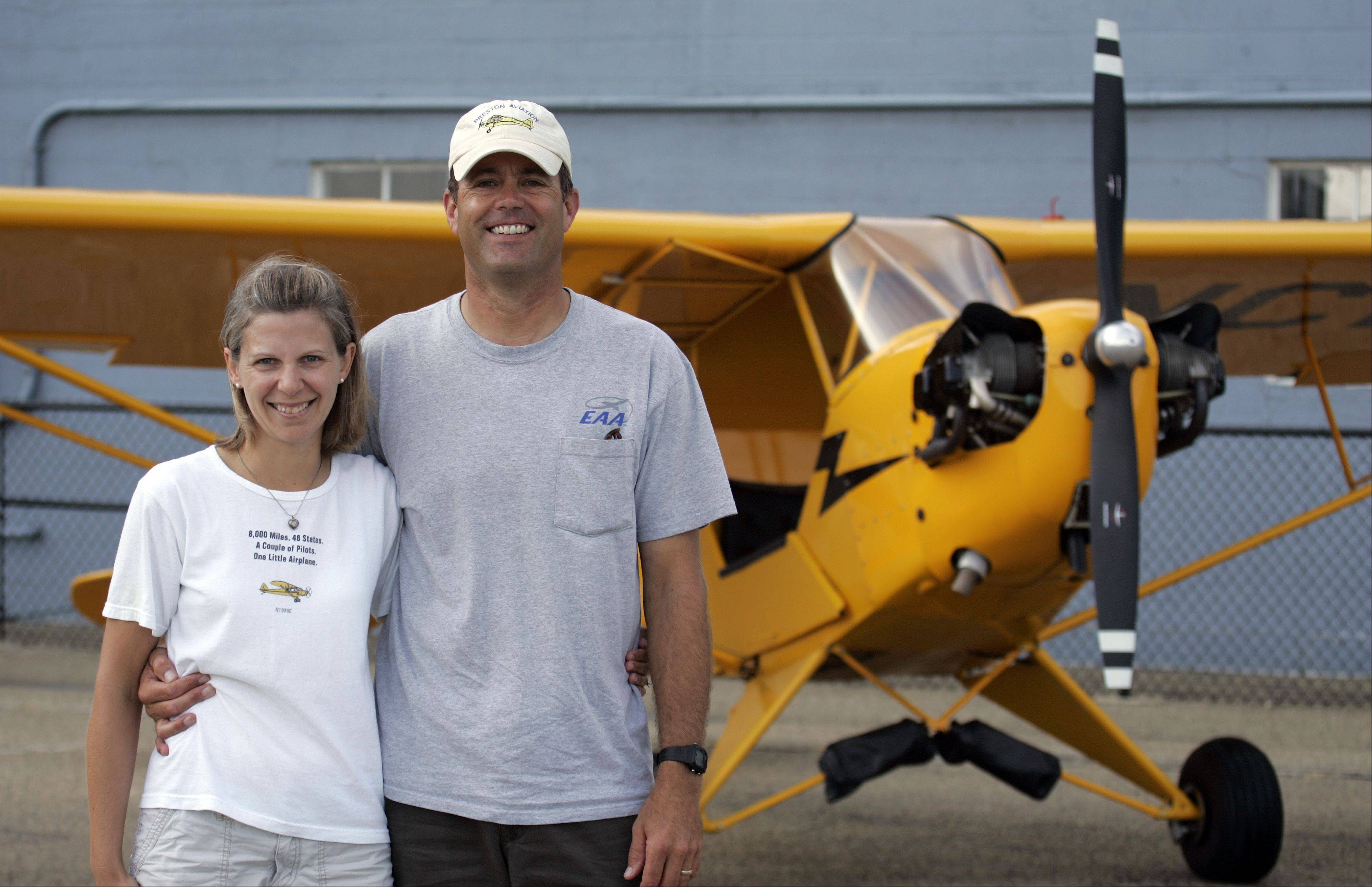 Former Island Lake resident Dana Holladay and his wife, Meredith Tcherniavsky, live in Maryland and are flying their 1938 Piper J-3 Cub around the country.