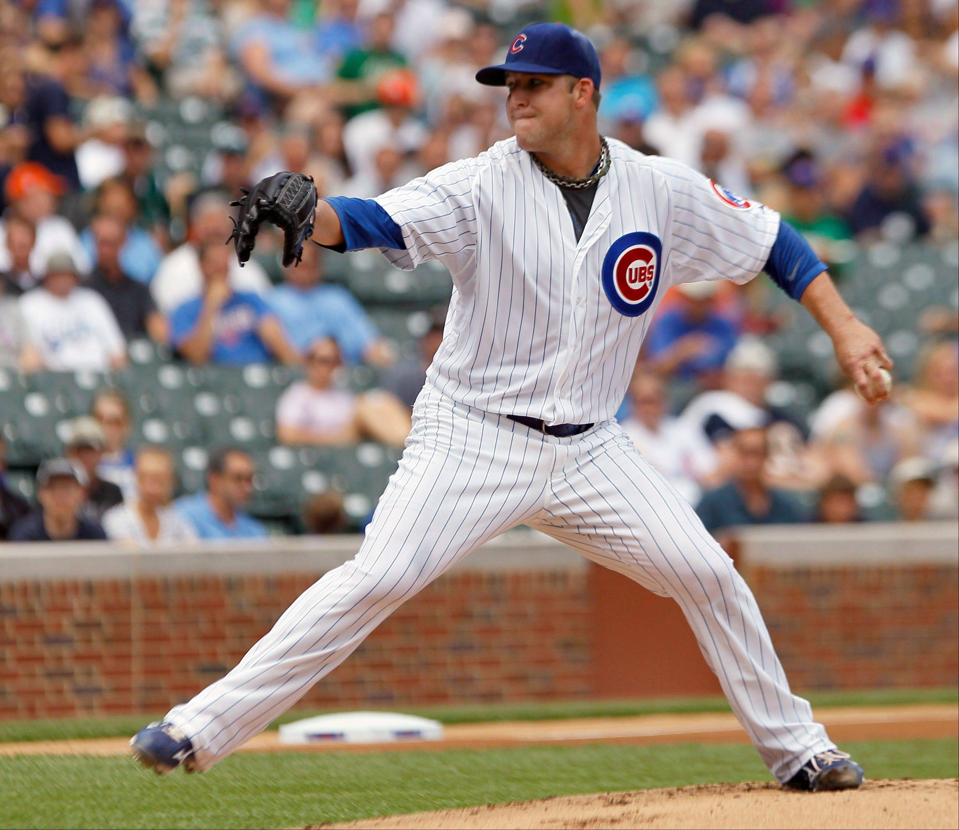 In a crisply paced game that took 2 hours and 18 minutes, Cubs starter Paul Maholm worked 8 innings, giving up 5 hits and 1 run. He's now the winningest Cubs pitcher.