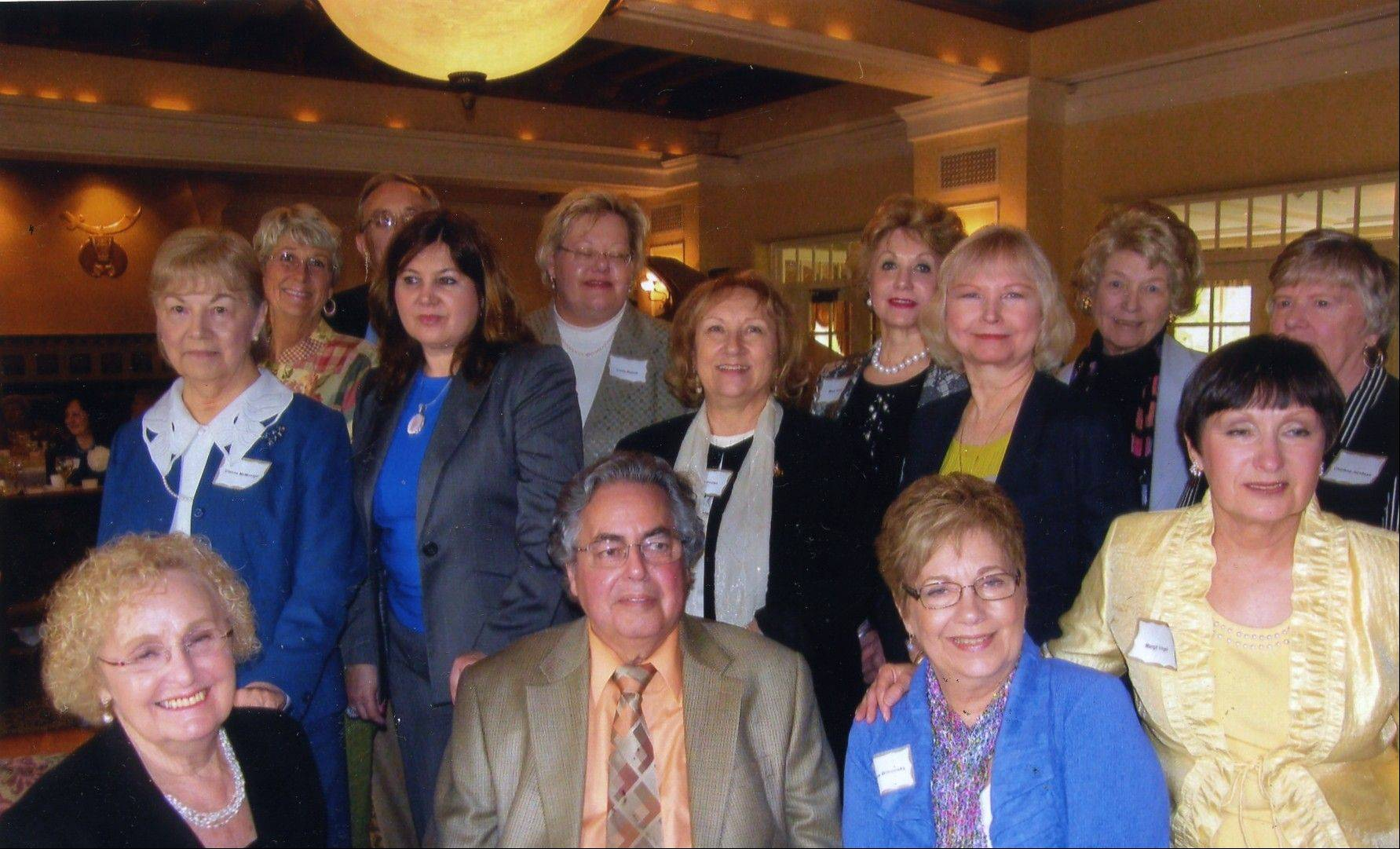 BCLOC newly installed officers pictured, from left, are: Front row: Maureen Brown, Howard Robins, Marlene Boncosky and Margit Vogel; back row: Glenne McMonigal, Heide Carlini, Dr. Gerald Budzik, Claudia Bostic, Linda Budzik, Nancy Hozian, Mary Green, Diane Johnson, Toni Savadel, and Charlene Jacobsen. Not pictured are: David Nelleman, Mary Robins and Catherine Mura.