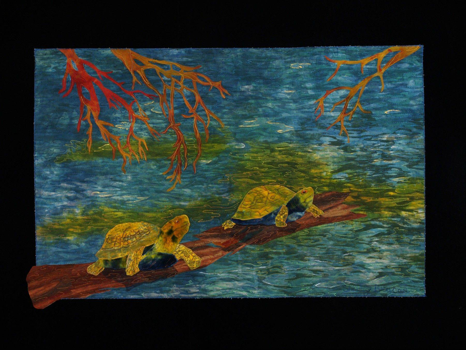 """Turtle Crossing III"" was made by Shelley Brucar."