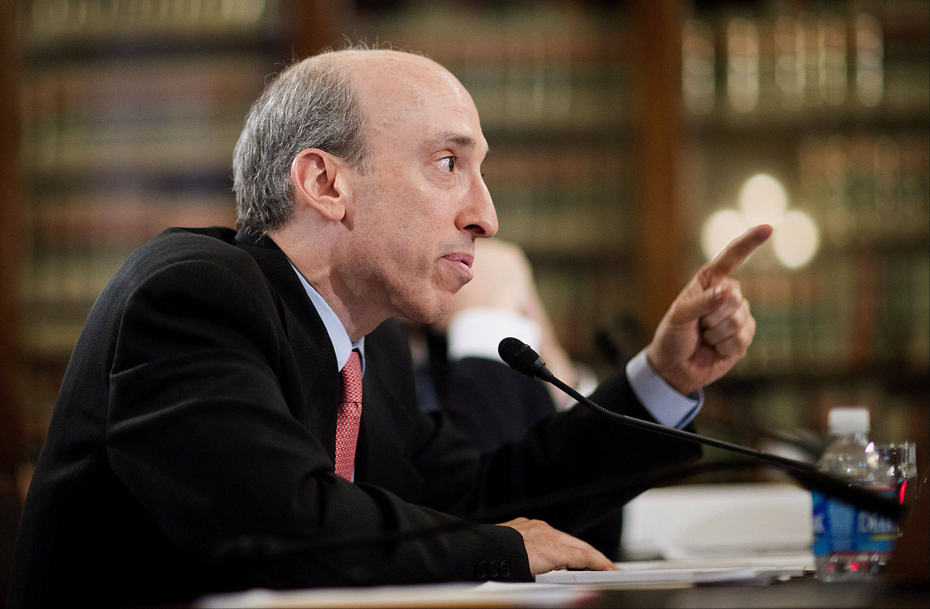 Gary Gensler, chairman of the Commodities Futures Trading Commission (CFTC), testifies to the Senate Agriculture Committee in Washington, D.C. The CFTC reviewed operations at Peregrine Financial Group Inc. at least twice since 2006 without detecting the fraud that led to the collapse of the futures broker and a $200 million shortfall in client funds.