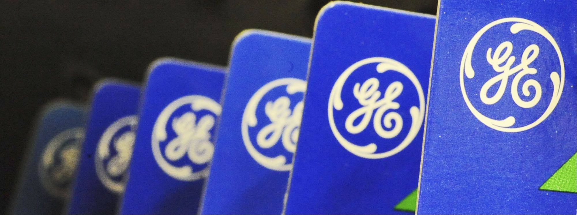 General Electric says its net income fell 16 percent in the second quarter because of losses in businesses it has divested and an increase in pension costs.